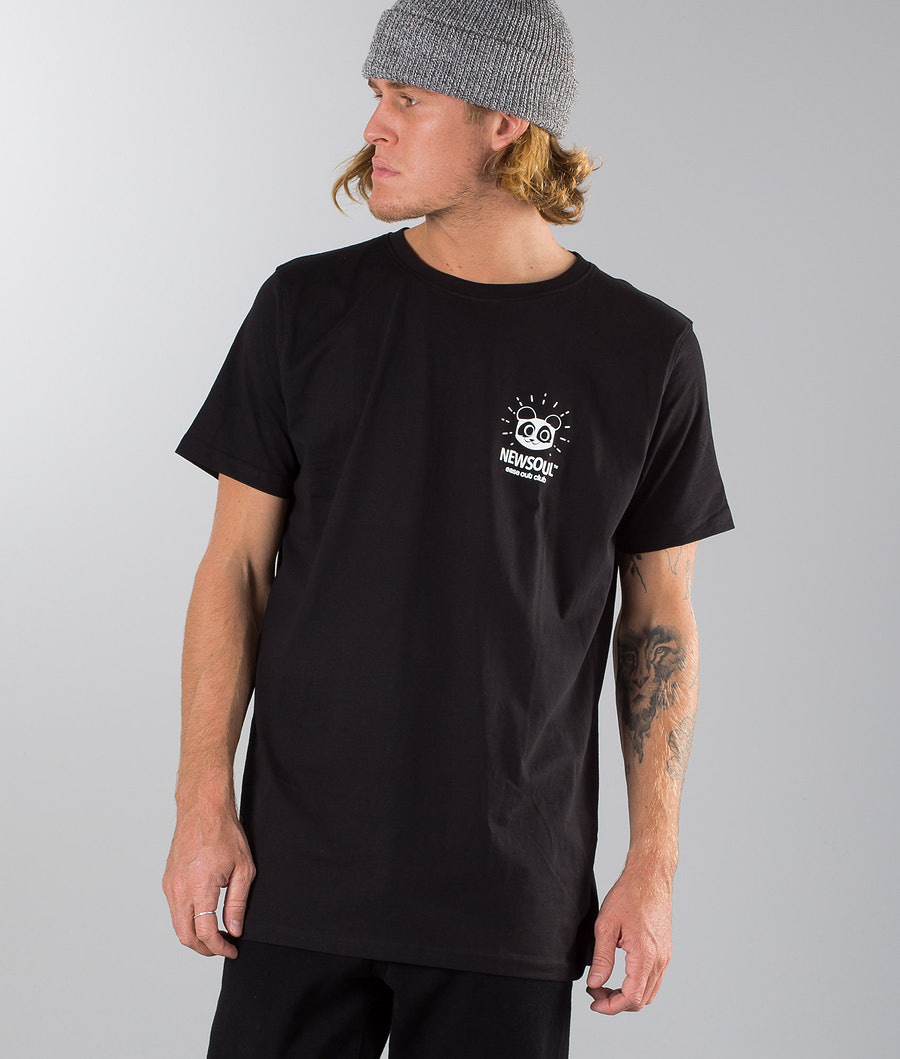 Newsoul Panda T-shirt Black