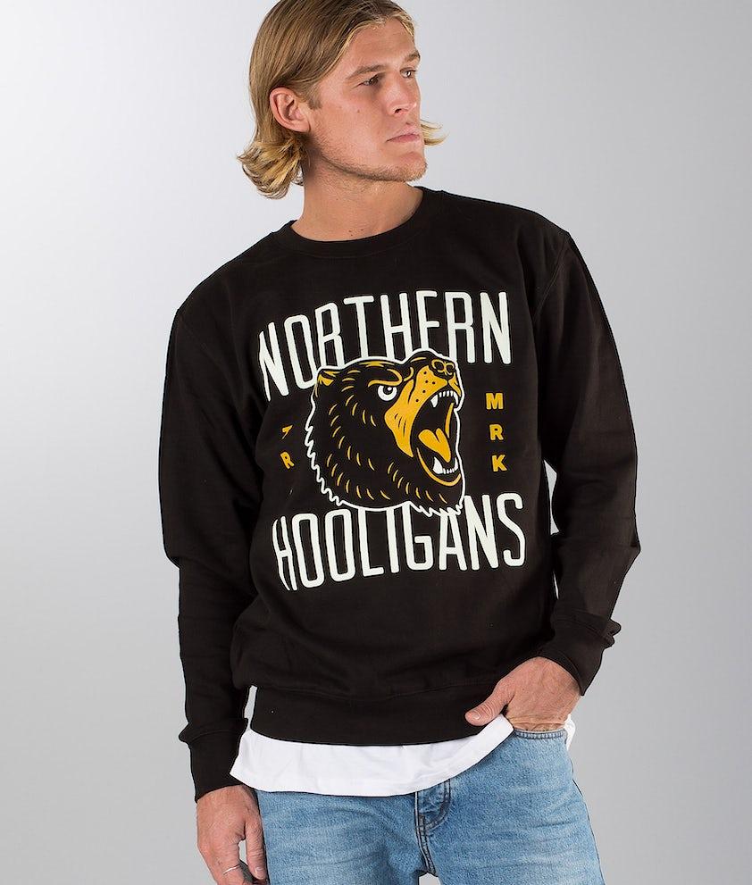 Northern Hooligans Bears Crewneck Felpa Black