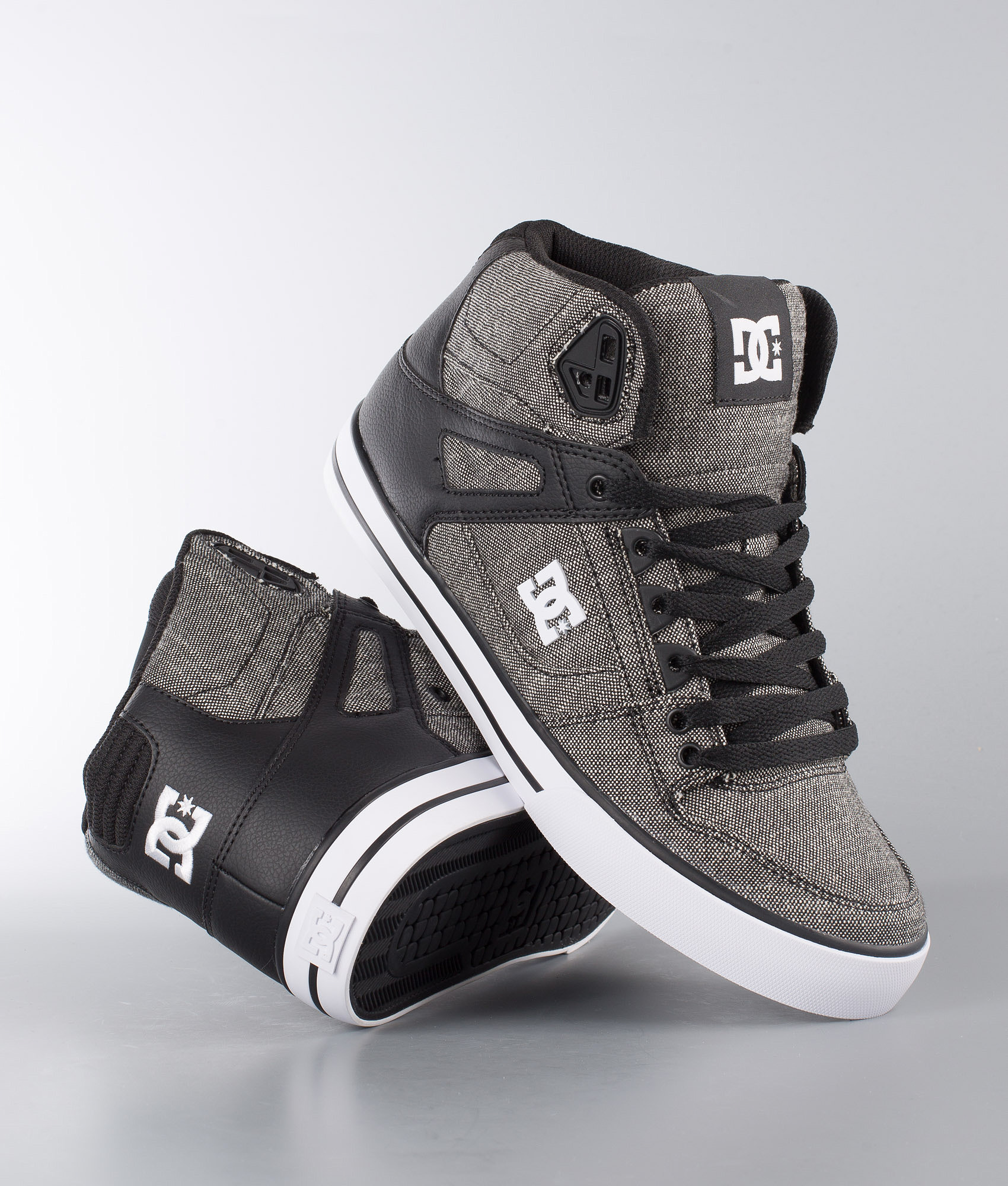 7f0223b430 DC Pure High-Top WC TX SE Shoes Black Grey White - Ridestore.com