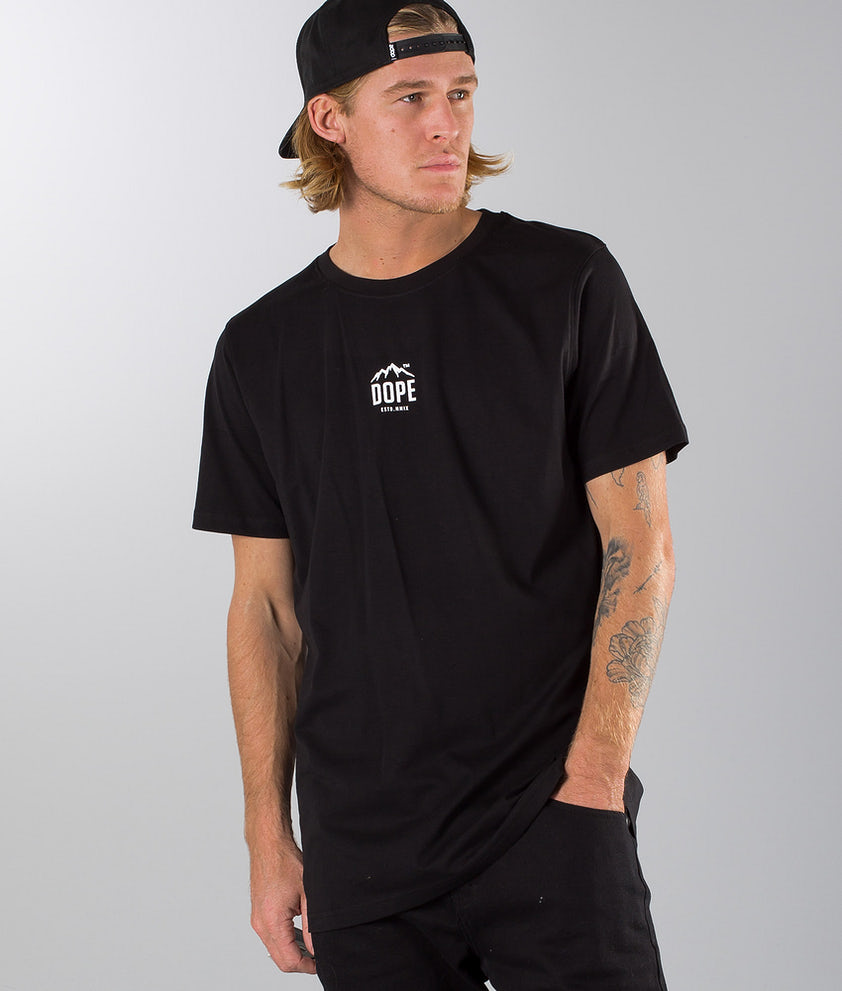 Dope STU T-shirt Black White