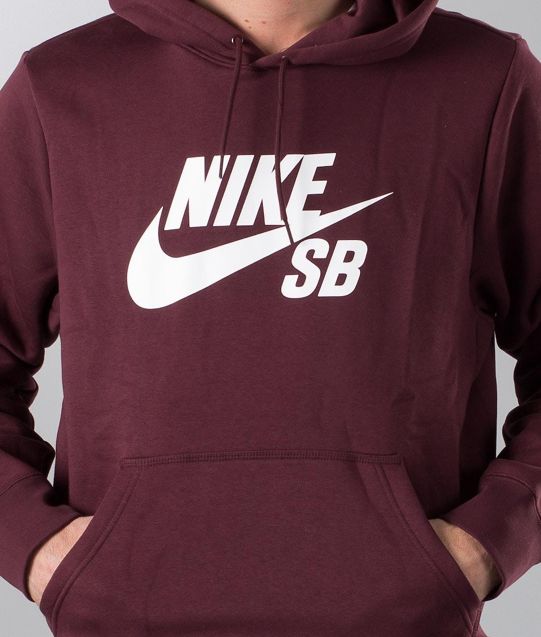 a88eb74747178 Nike Sb Icon Hoodie Burgundy Crush/White - Ridestore.com
