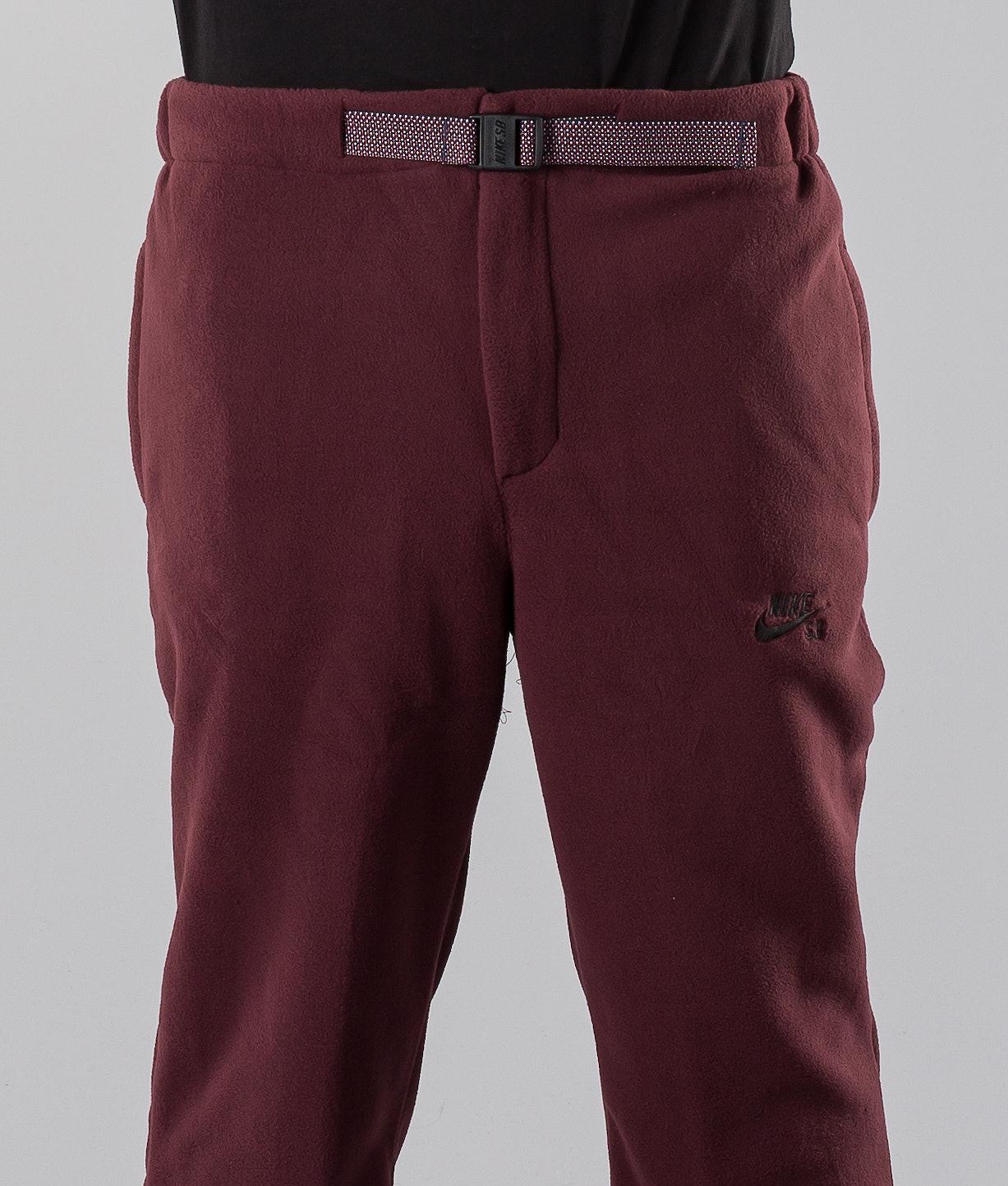 Nike Sb Polartec Pants Burgundy Crush Black - Ridestore.com 0d978354ec0e