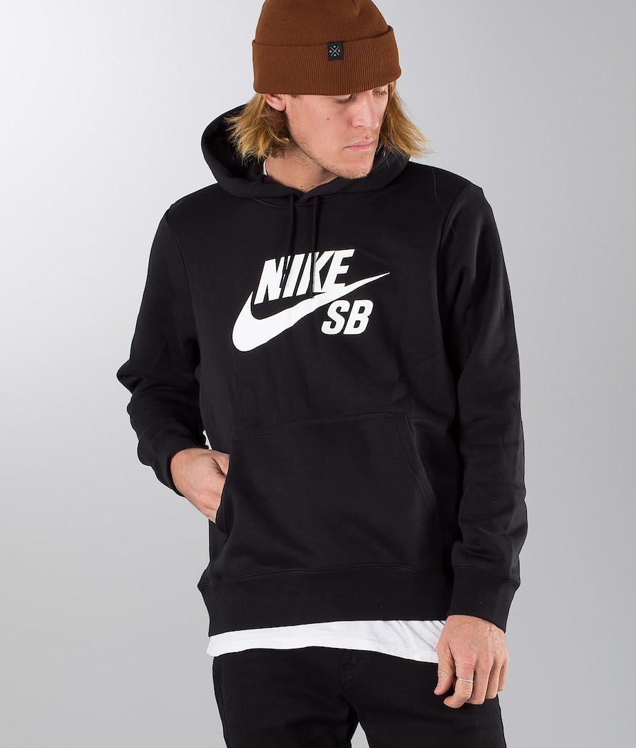 Nike SB Icon Hoodie Po Essnl Huppari Black/White