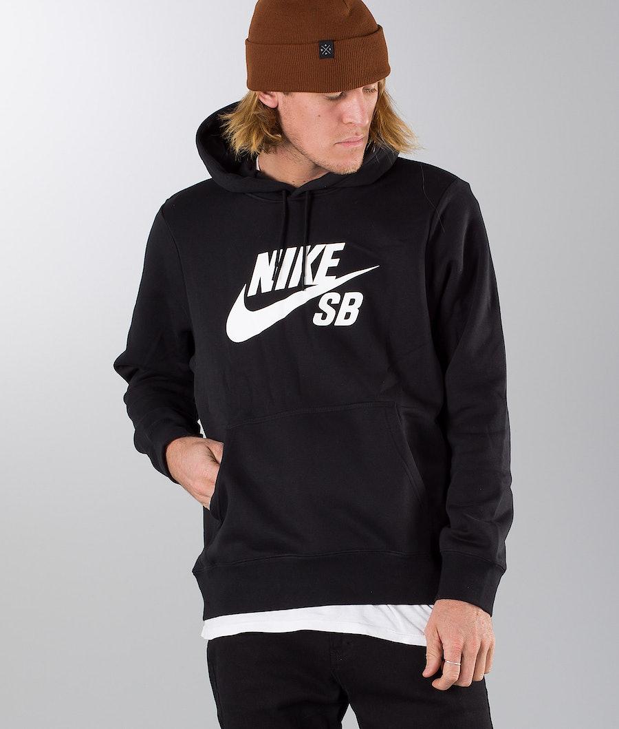 Nike SB Icon Hoodie Po Essnl Hoodie Black/White