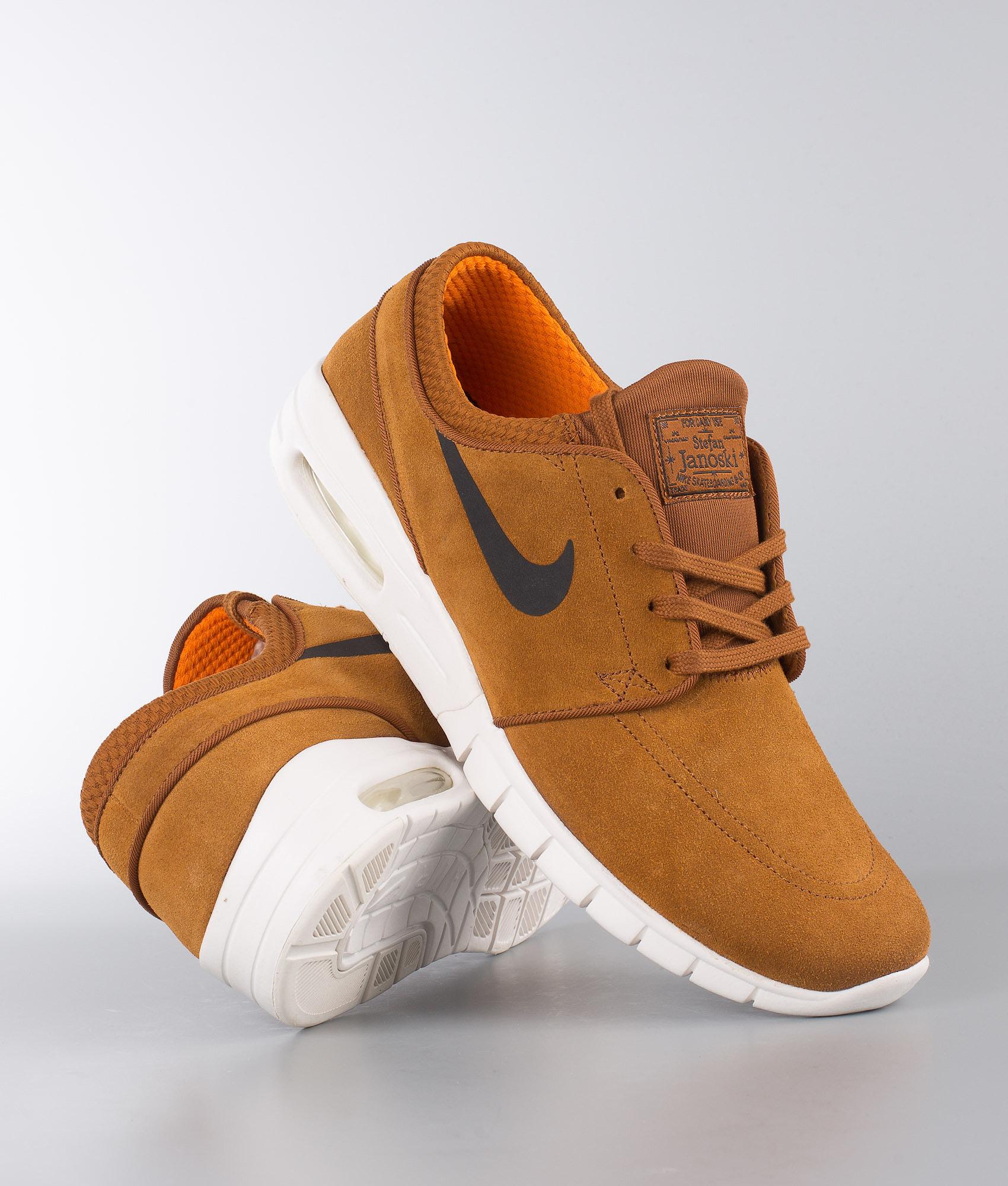 047d7ec2087 Nike Stefan Janoski Max L Shoes Hazelnut Black-Ivory-Clay Orange ...