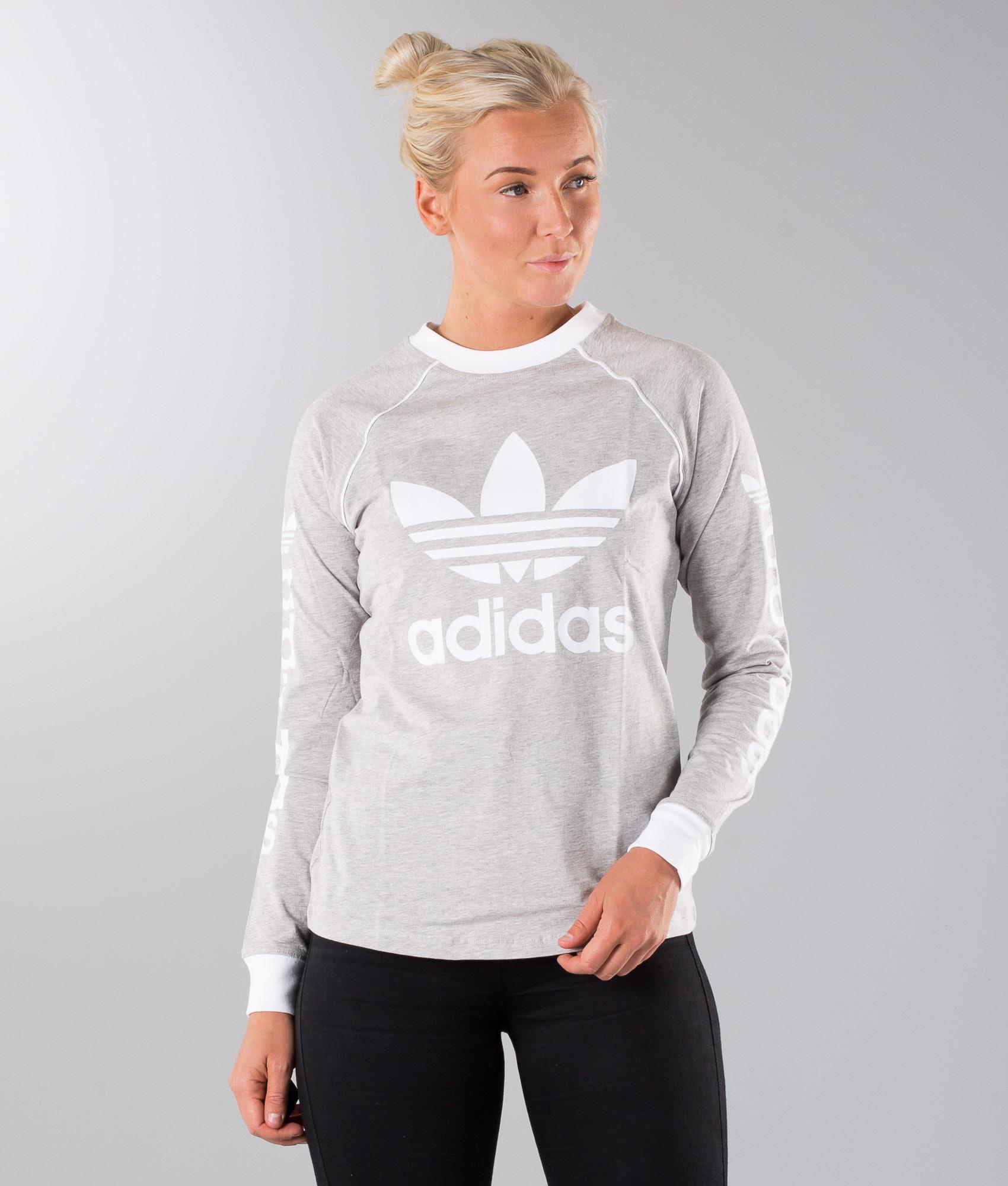 b88ad2e1c Adidas Originals OG Longsleeve Medium Grey Heather - Ridestore.com