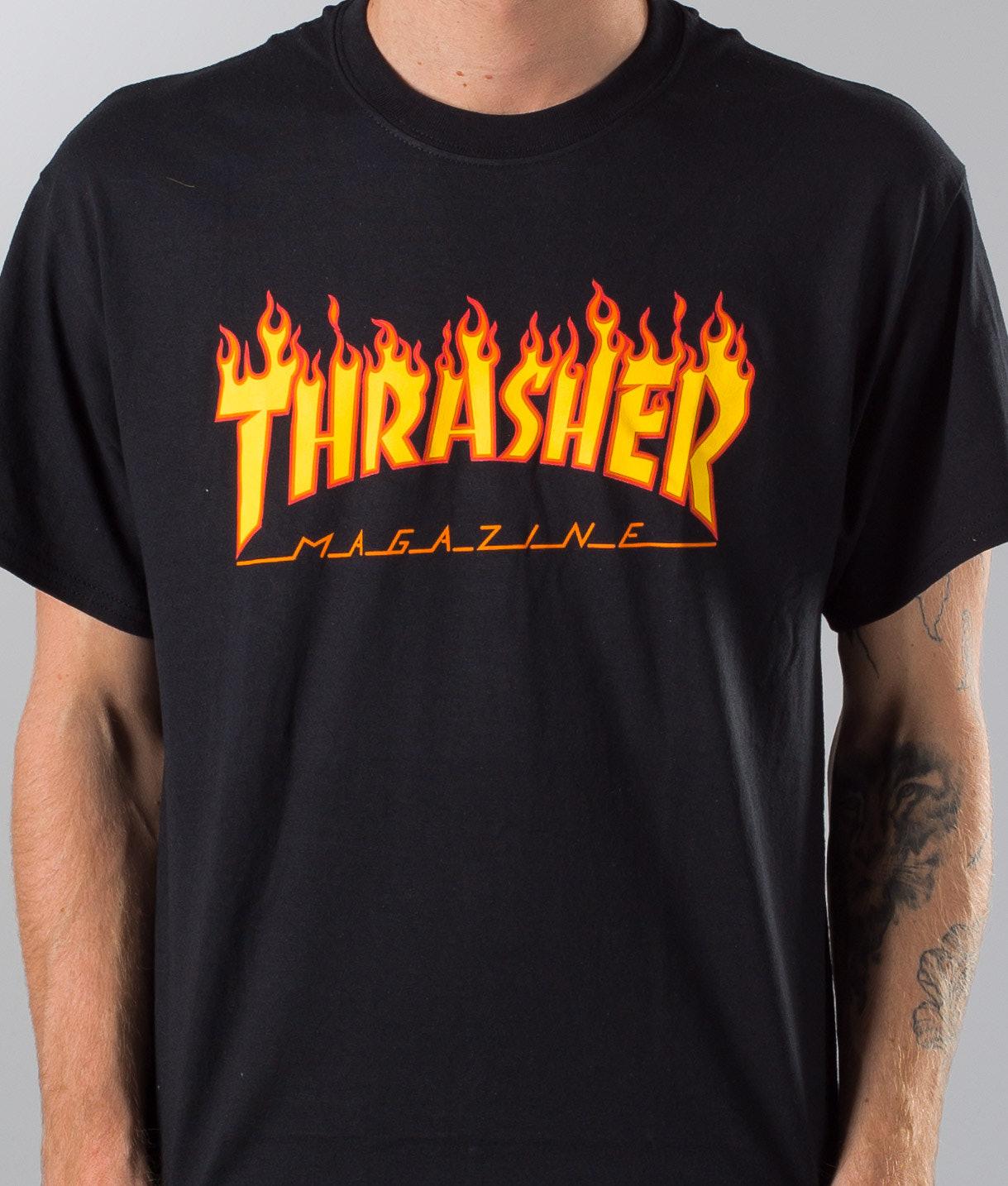 Thrasher Flame T-shirt Black