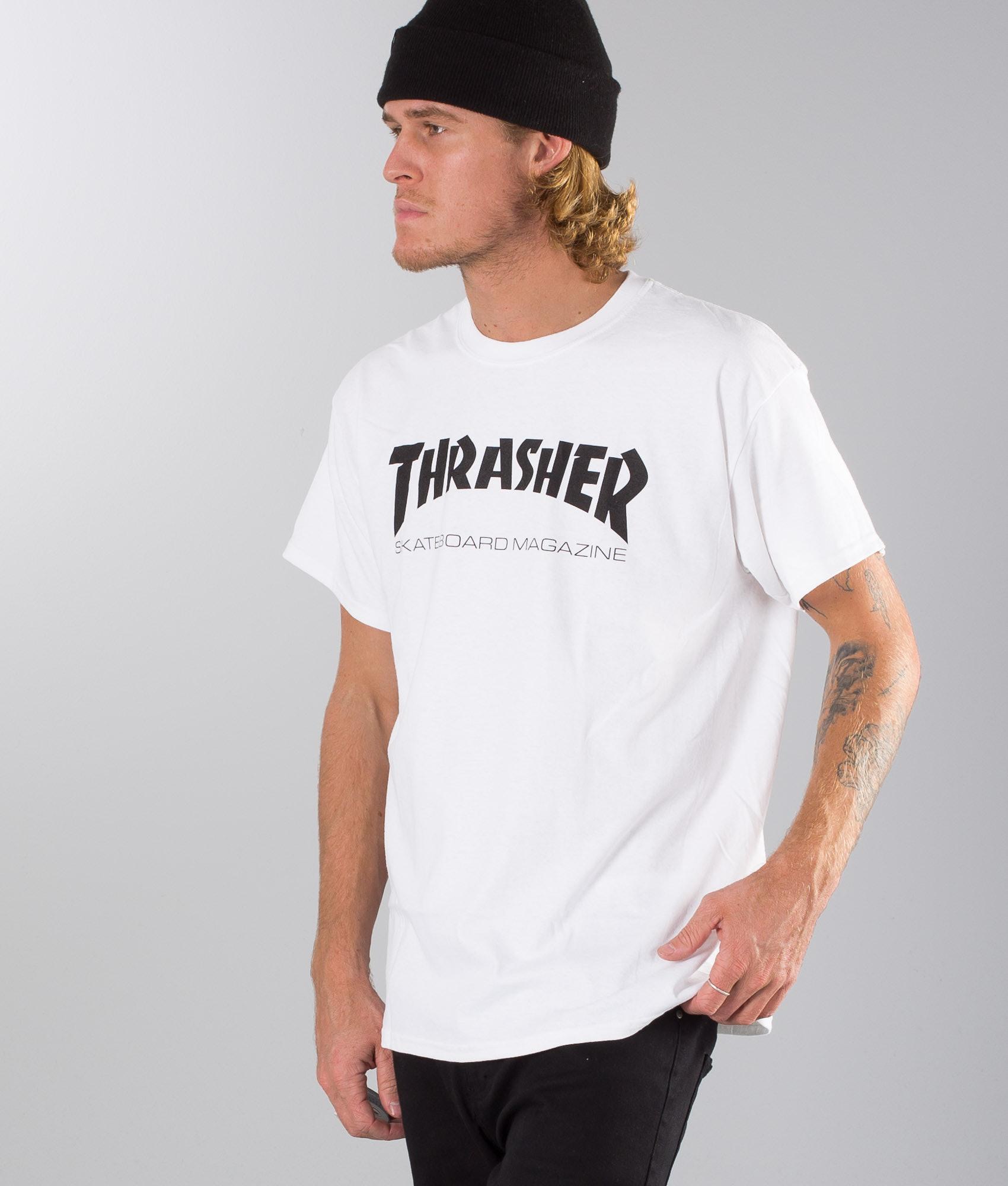 bce83eb2199a Thrasher Skate Mag T-shirt White - Ridestore.com