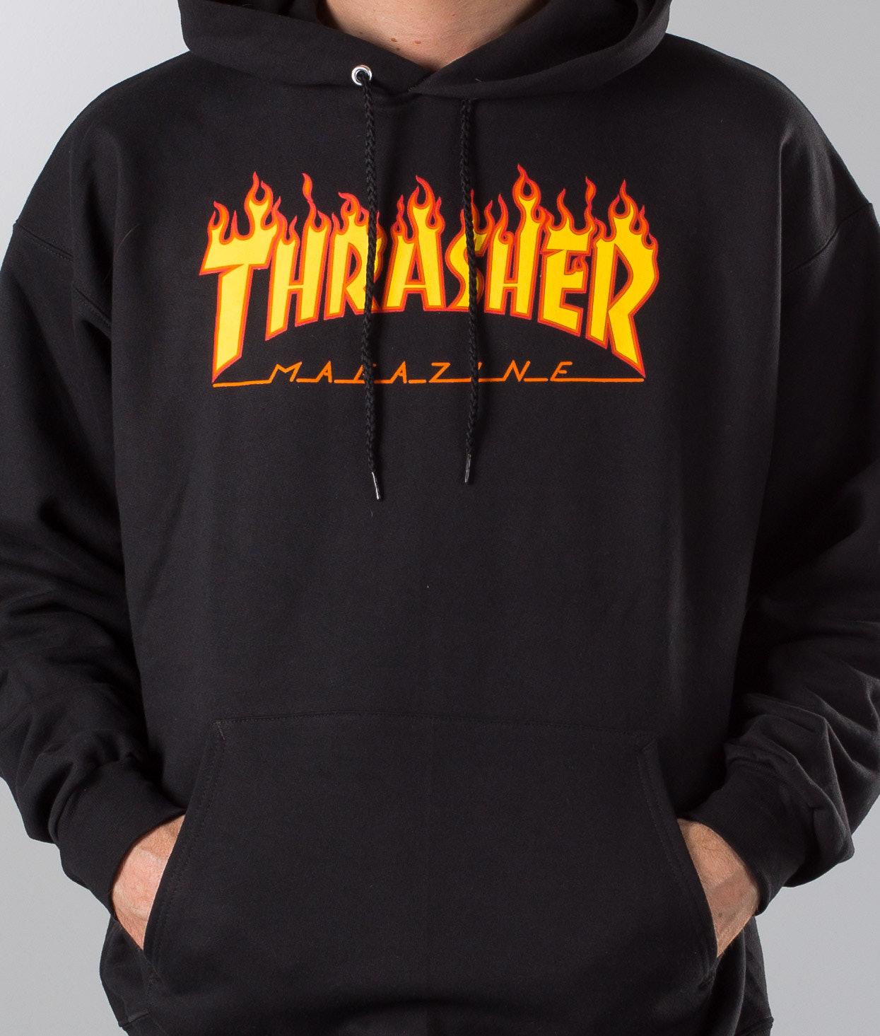 Thrasher Flame Hoodie Black - Ridestore.com 095b90e5a
