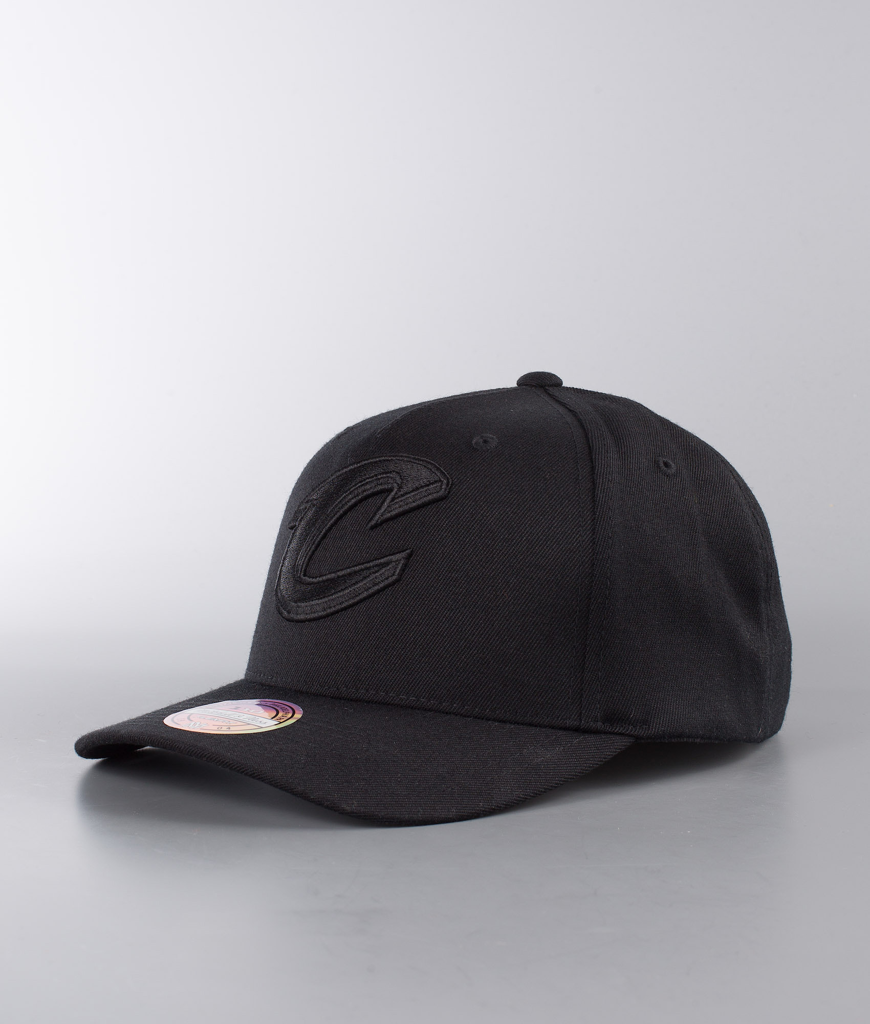 287a5b9f270d4 Mitchell and Ness Outline Logo 110 - Cleveland Cavaliers Cap Black ...