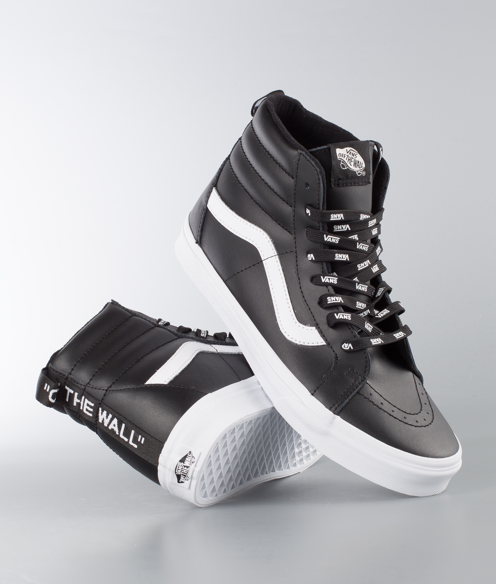 Vans Sk8-Hi Reissue Shoes (Otw Webbing) Black/Leather