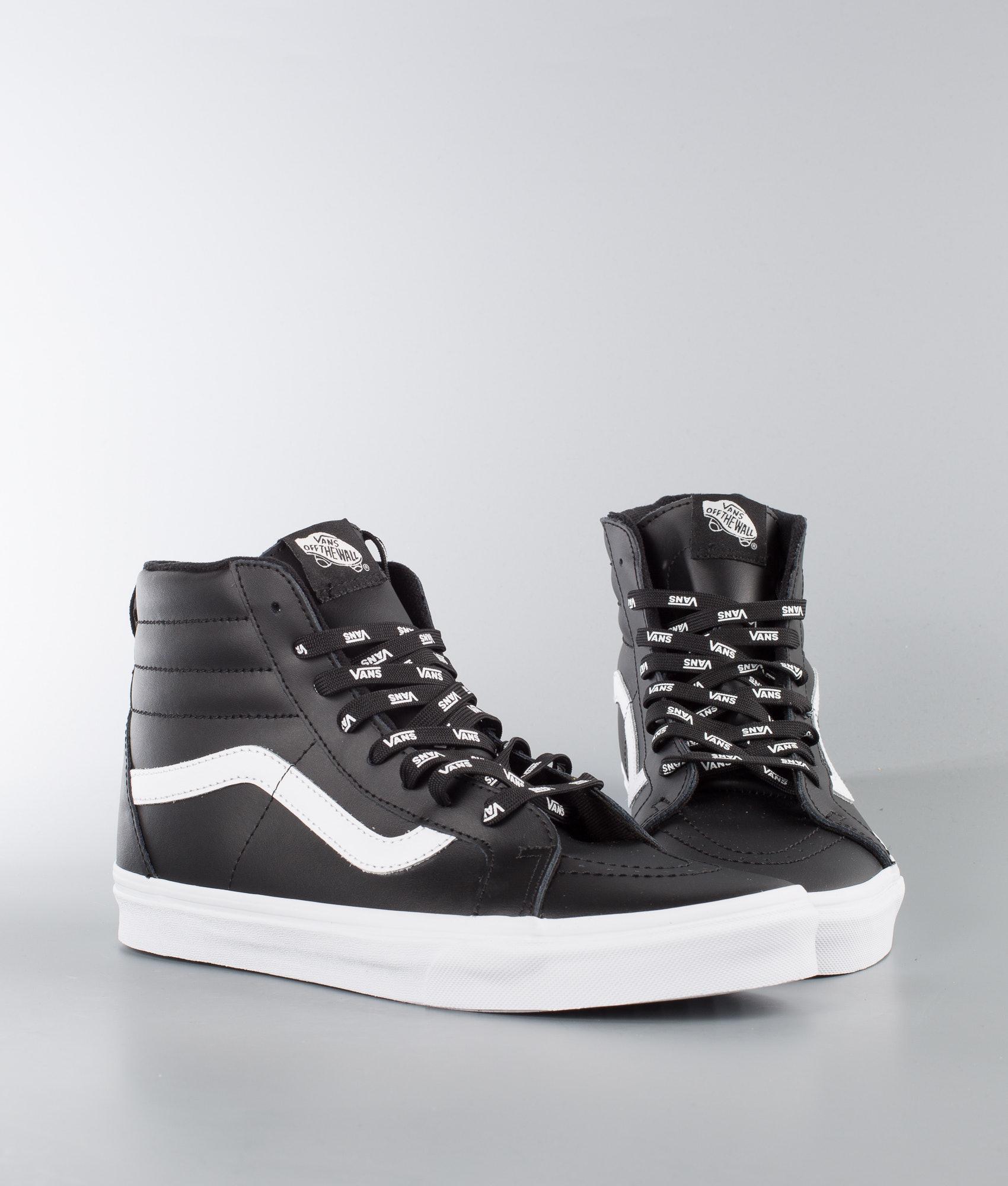 418c2a8ea5 Vans Sk8-Hi Reissue Shoes (Otw Webbing) Black Leather - Ridestore.com