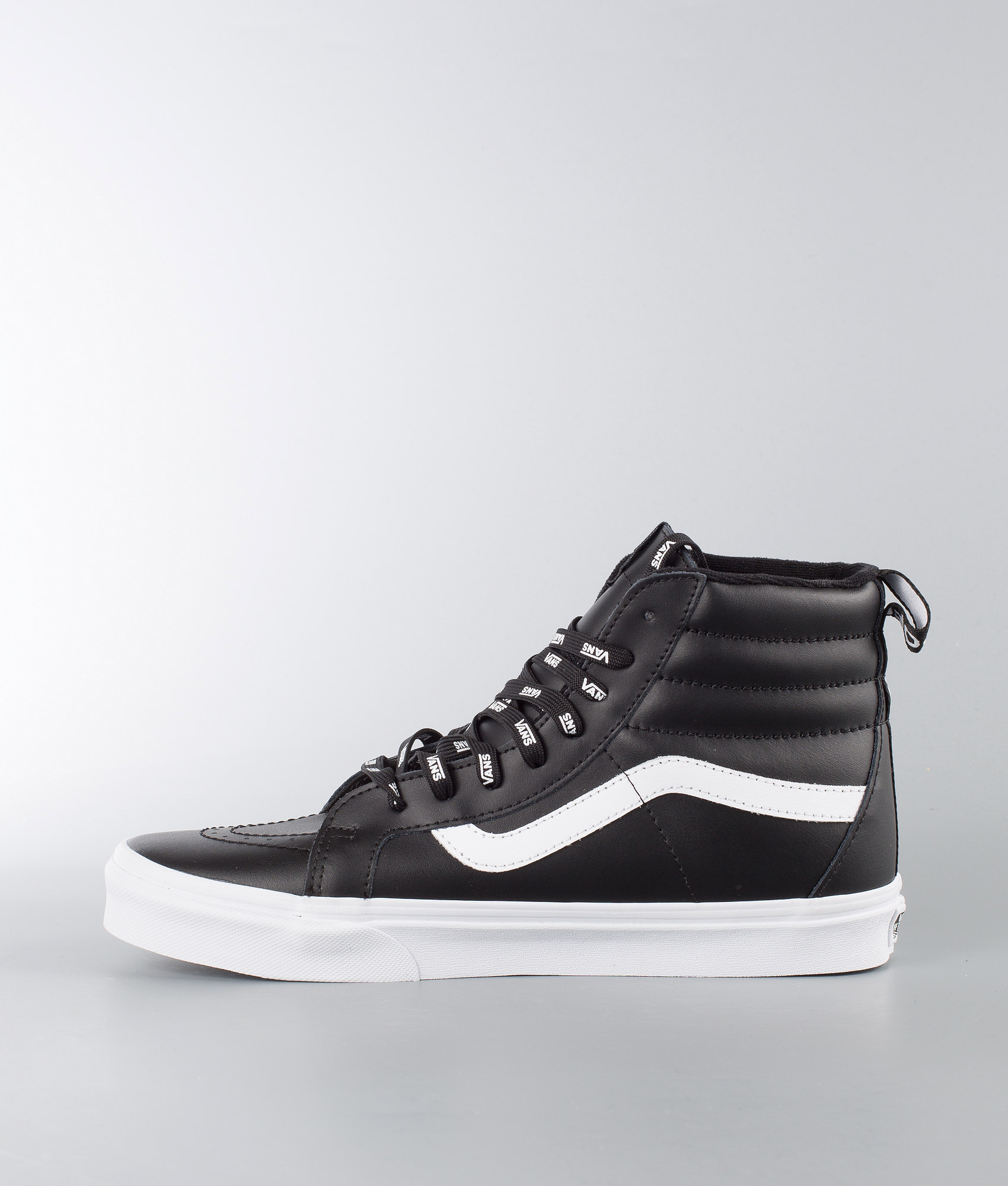 714dfa841a Vans Sk8-Hi Reissue Shoes (Otw Webbing) Black Leather - Ridestore.com