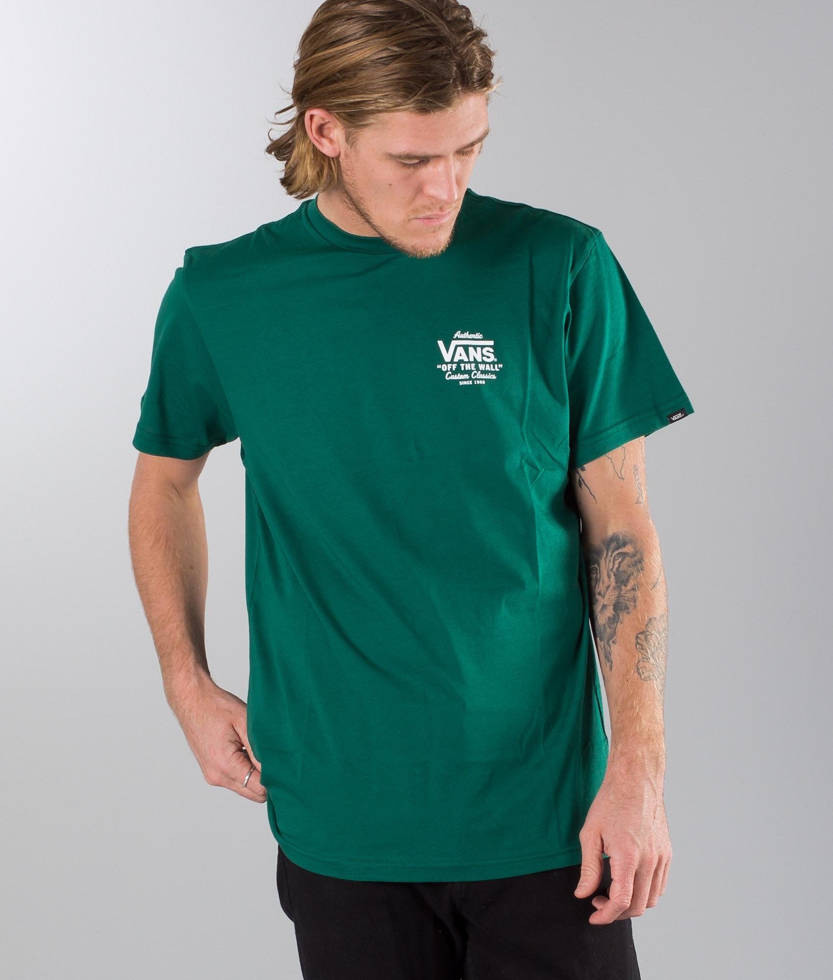 Vans Holder Street II T-shirt Evergreen-White - Ridestore.com a8a335c481