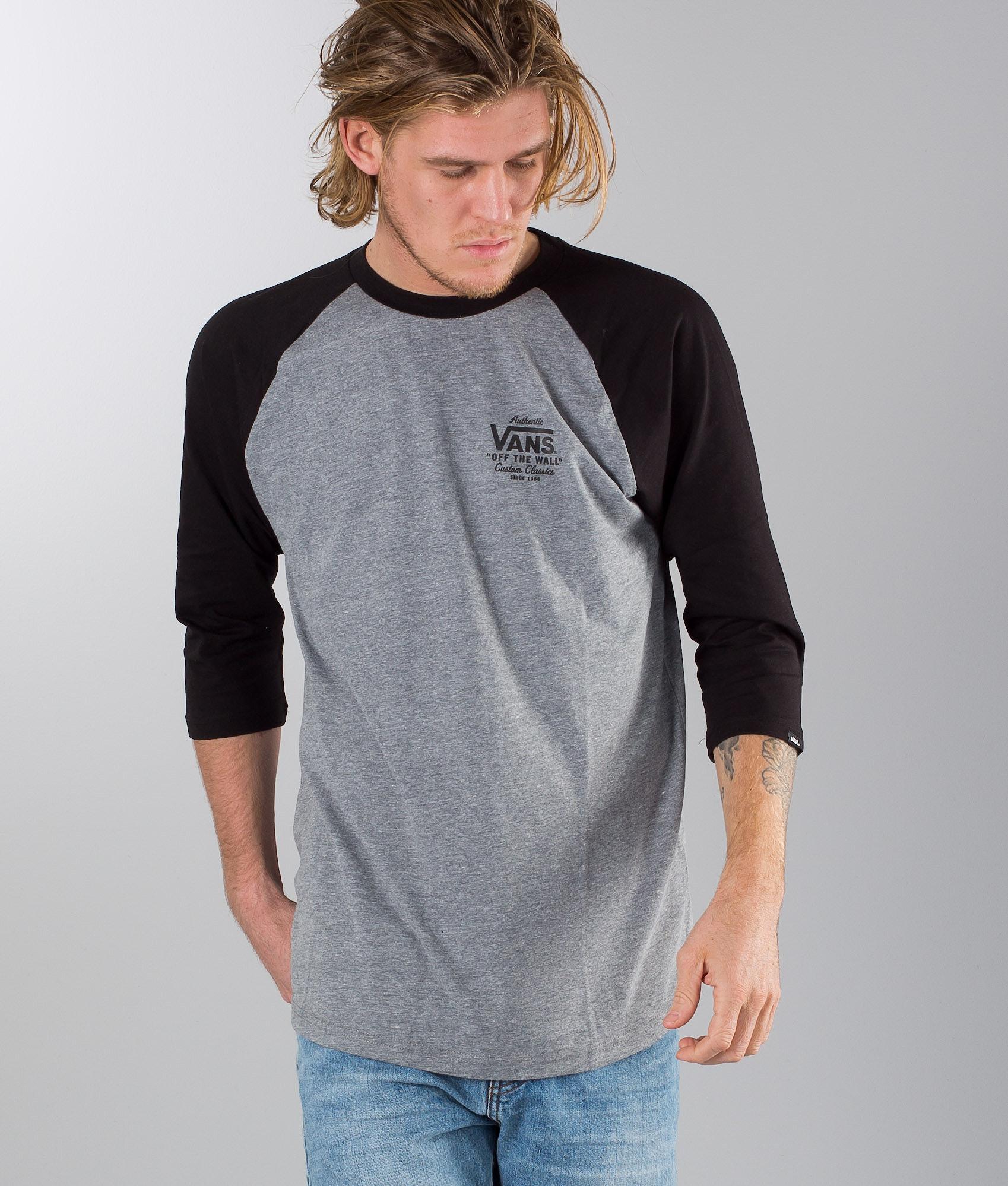 d8be5cf89a80ce Vans Holder St Raglan T-shirt Heather Grey-Black - Ridestore.com