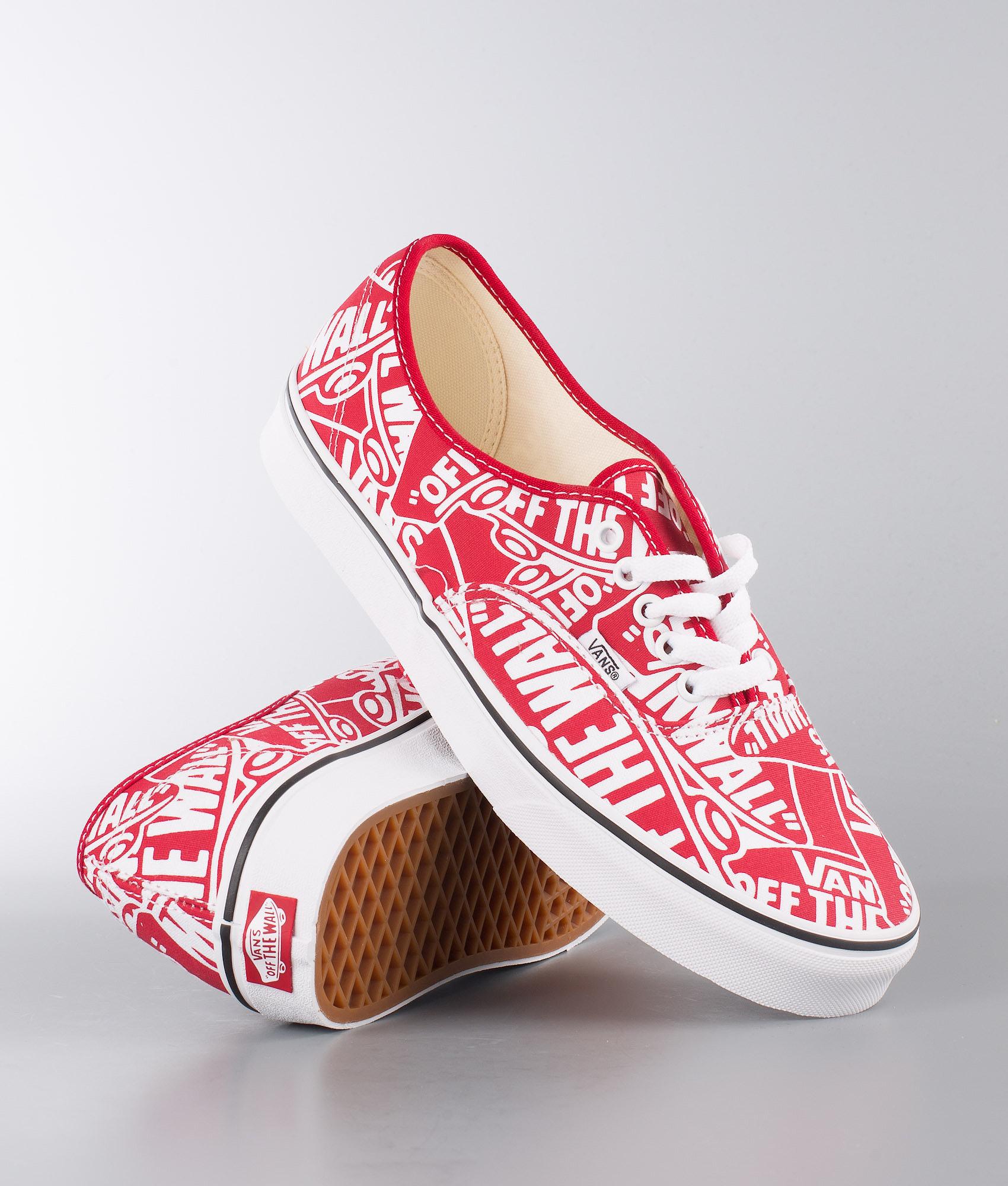 c598b192b4263a Vans Authentic Shoes (Otw Repeat) Red True White - Ridestore.com