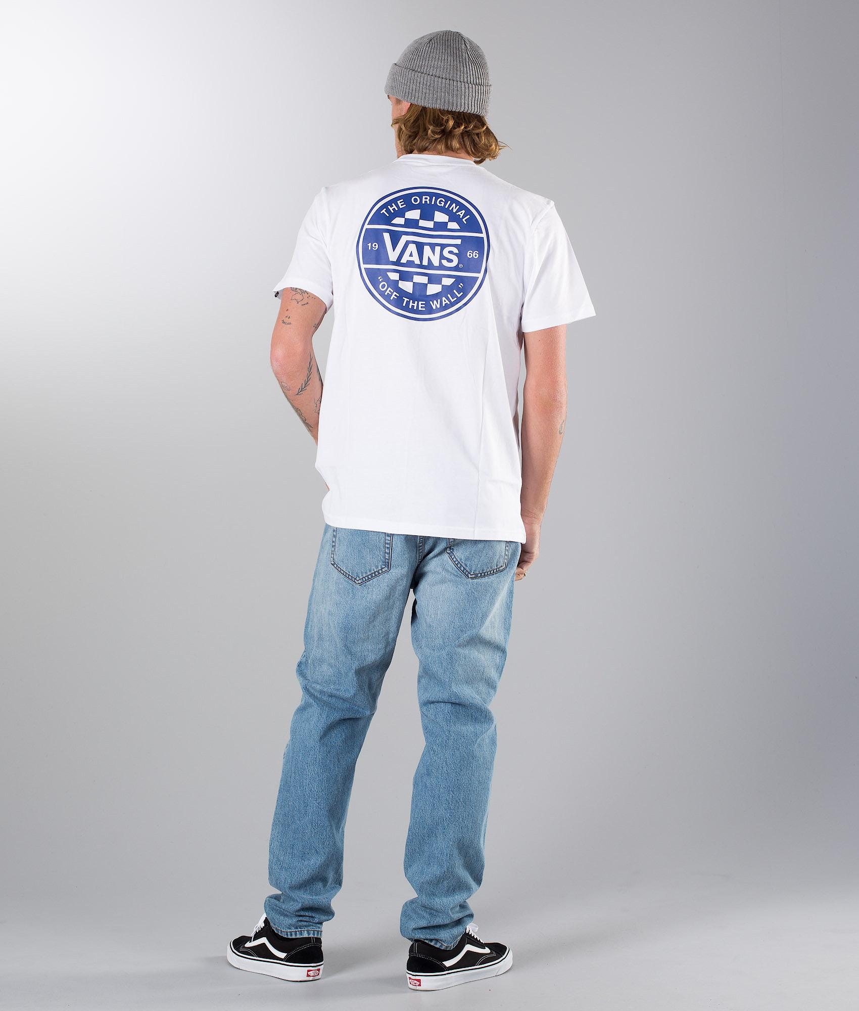 1f9c4eec Vans Checker Co. T-shirt White - Ridestore.com