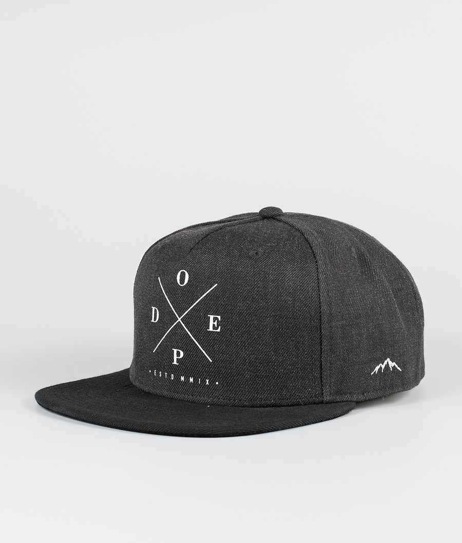 Dope 2X-Up Caps Dark Grey Black