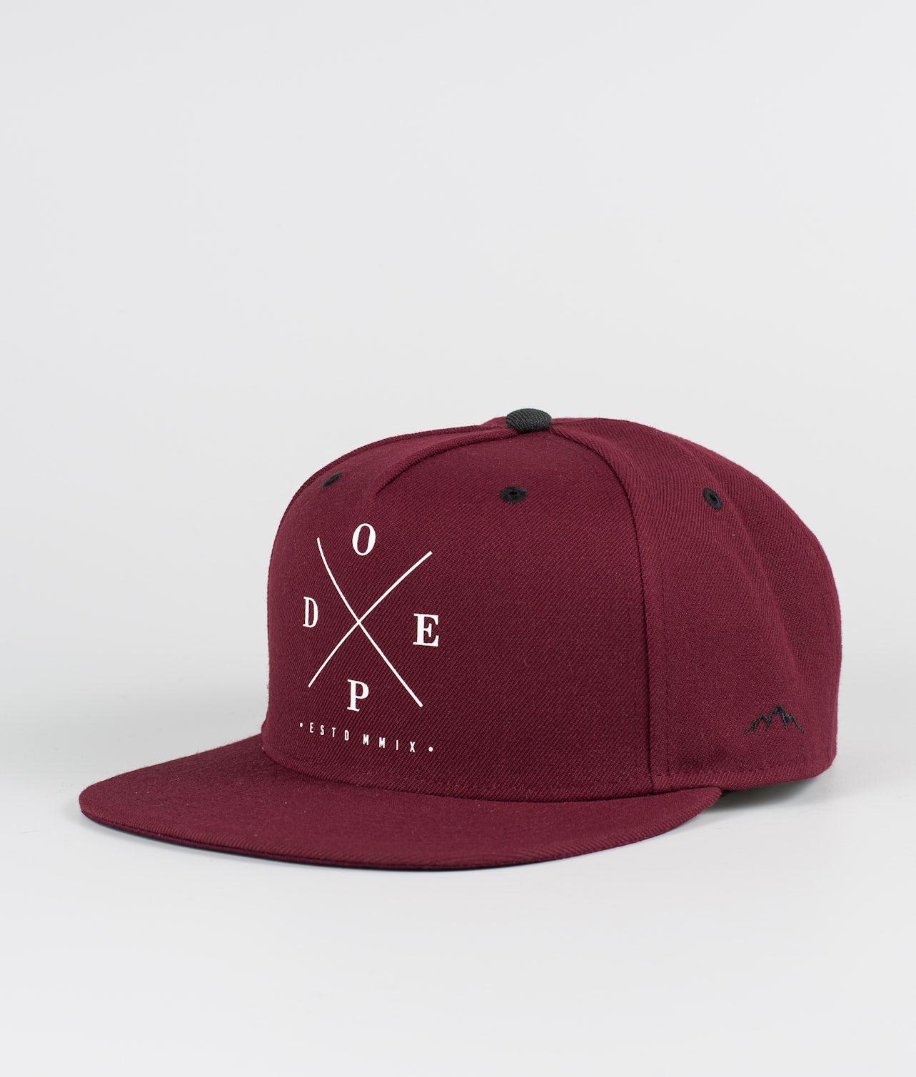 Dope 2X-Up Caps Burgundy