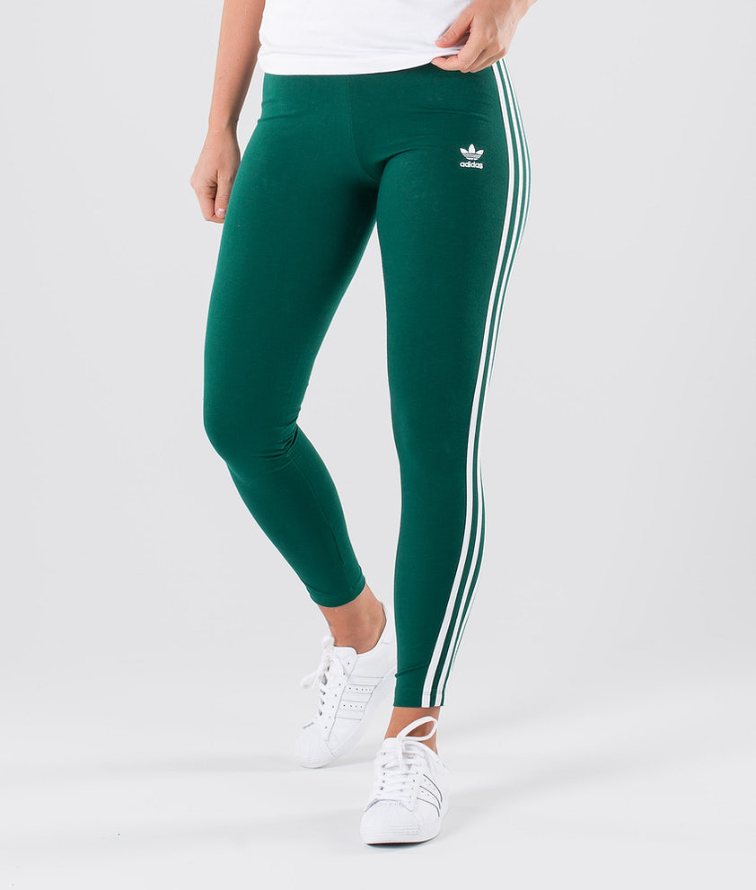 Adidas Originals 3 Stripes Leggings Collegiate Green
