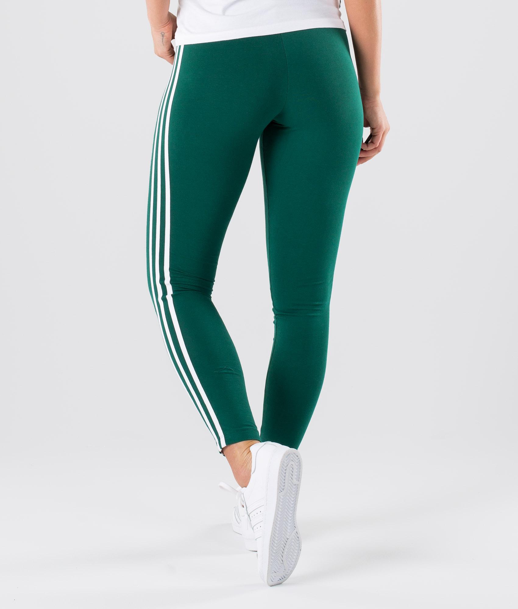 Adidas Originals 3 Stripes Leggings Collegiate Green