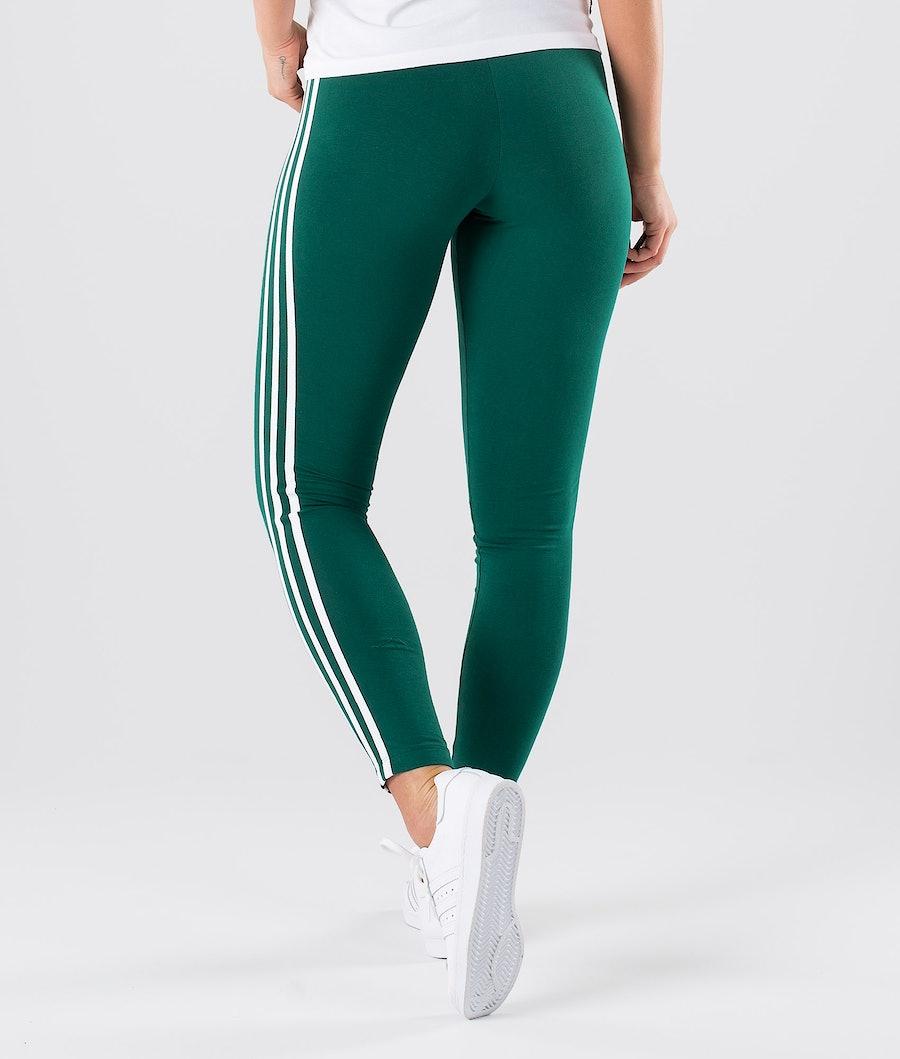 Adidas Originals 3 Stripes Leggings Dame Collegiate Green