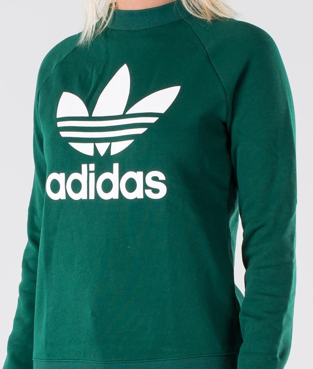 Adidas Originals Trefoil Gensere Collegiate Green Ridestore.no