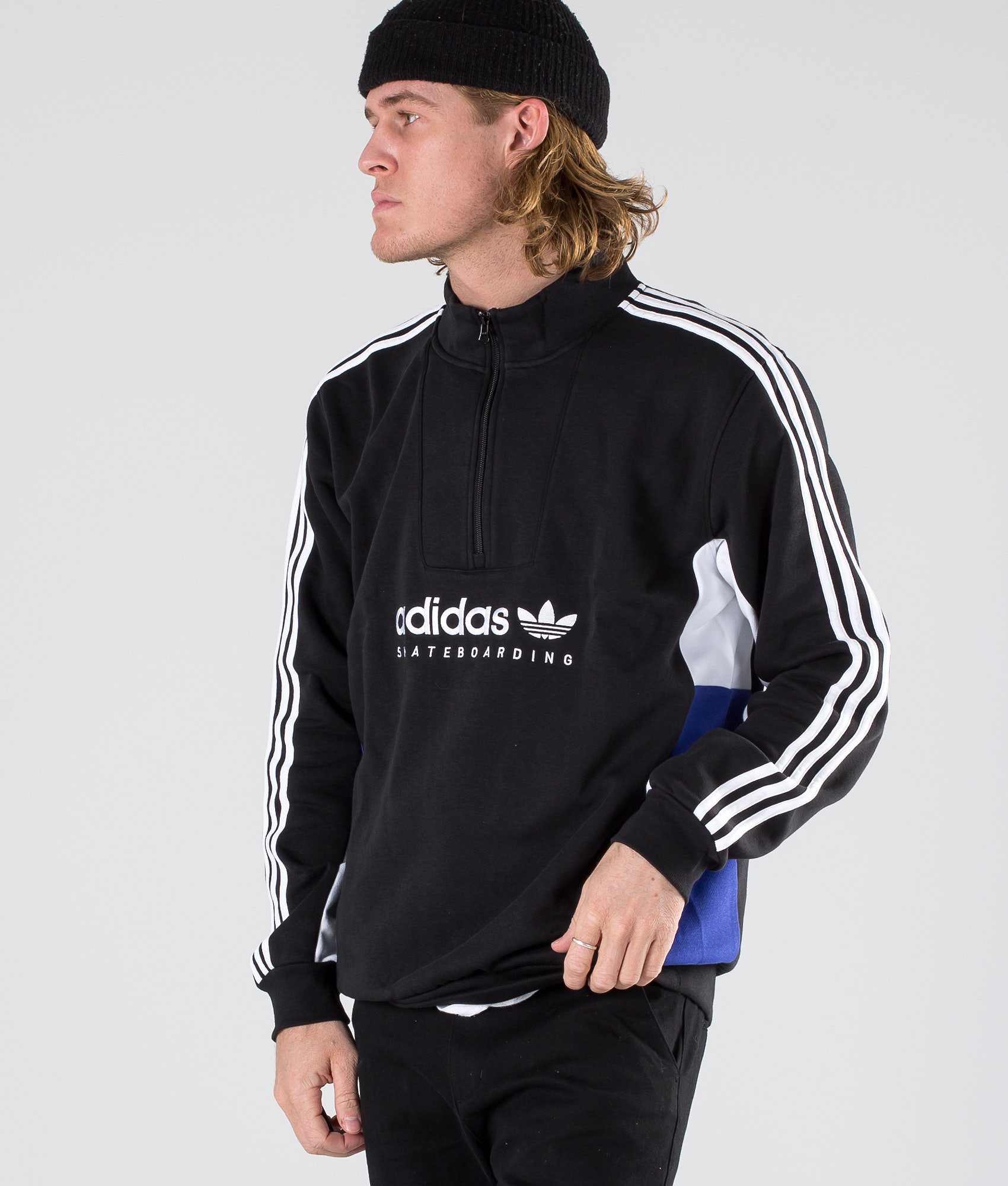1ee7b522f3 Adidas Skateboarding Apian Sweater Black. Black White Active Blue