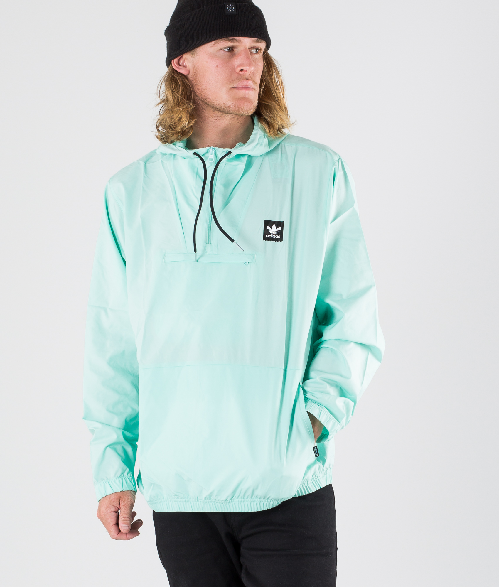 Adidas Skateboarding Hip Packable Jacke Clear MintBlack