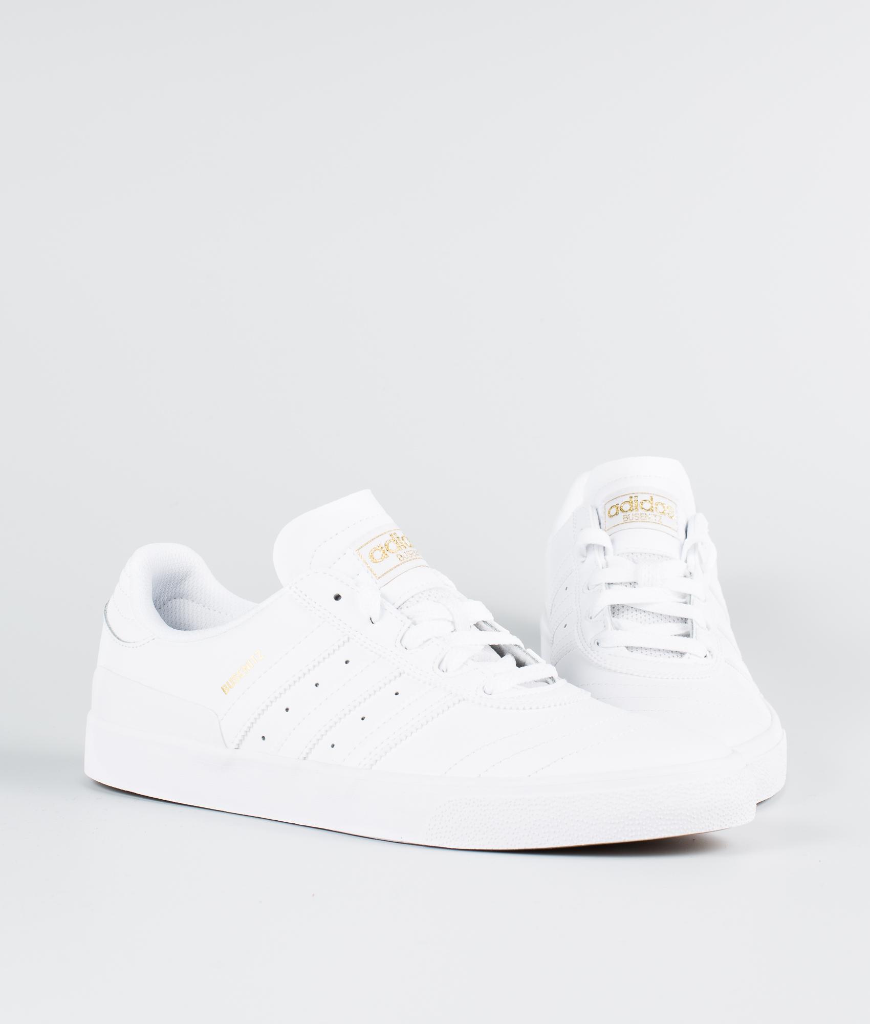Adidas Skateboarding Busenitz Vulc Skor Ftwr WhiteFtwr WhiteMetallic Gold