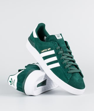 super popular 58b37 45997 Adidas Skateboarding Campus Adv Shoes Collegiagte Green/Ftwr White/Metallic  Gold