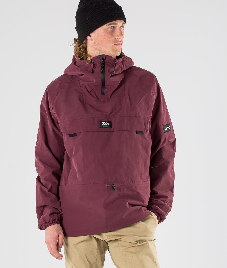 Dope Hiker Outdoor Jacket Burgundy