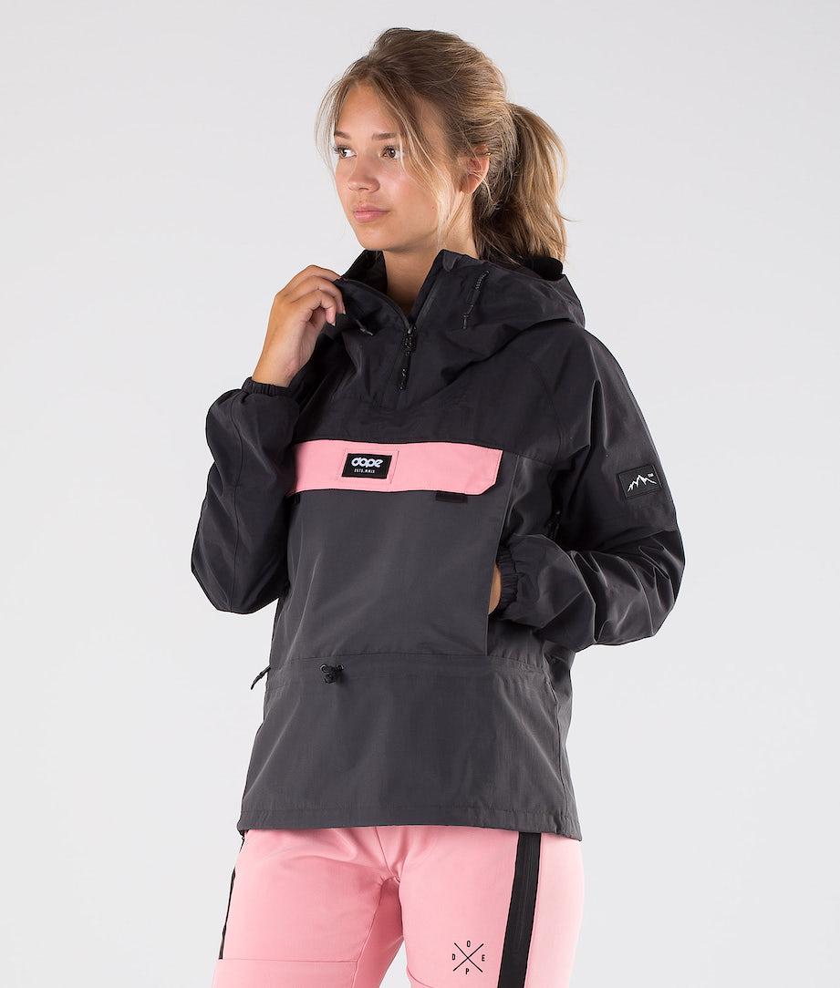 Dope Hiker W Outdoorjacke Black/Duskgrey/Pink