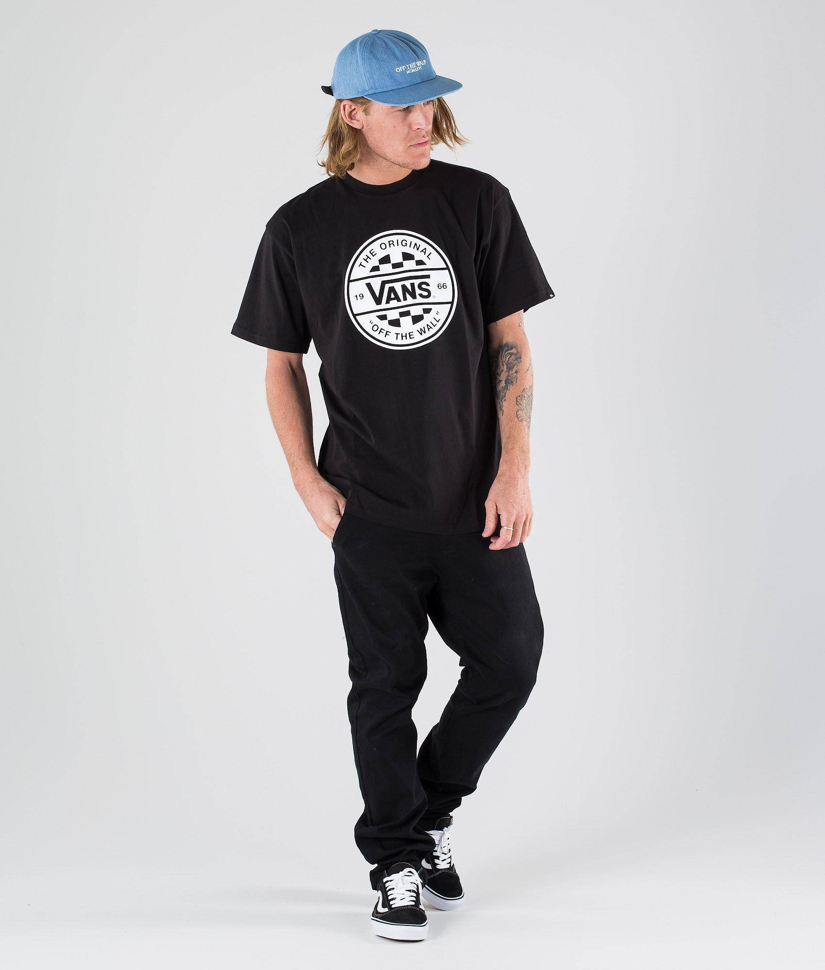 094738d407c Vans Checker Co. II T-shirt Black White - Ridestore.com