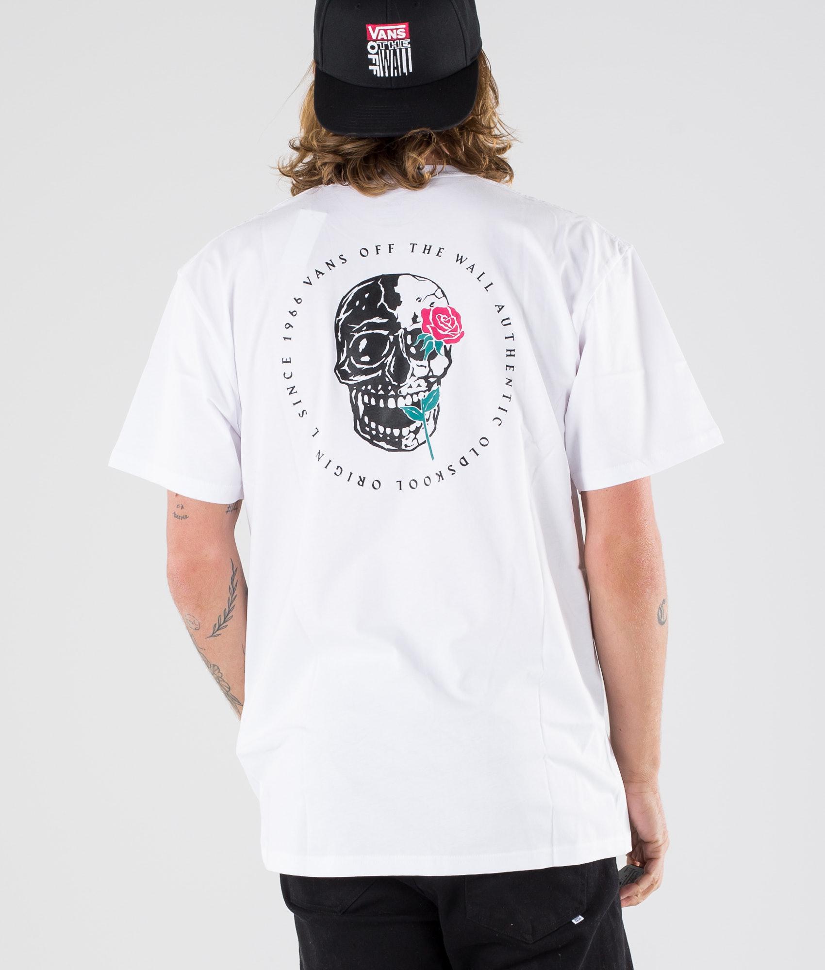 536fe133d8 Vans Coming Up Roses Ss T-shirt White - Ridestore.com