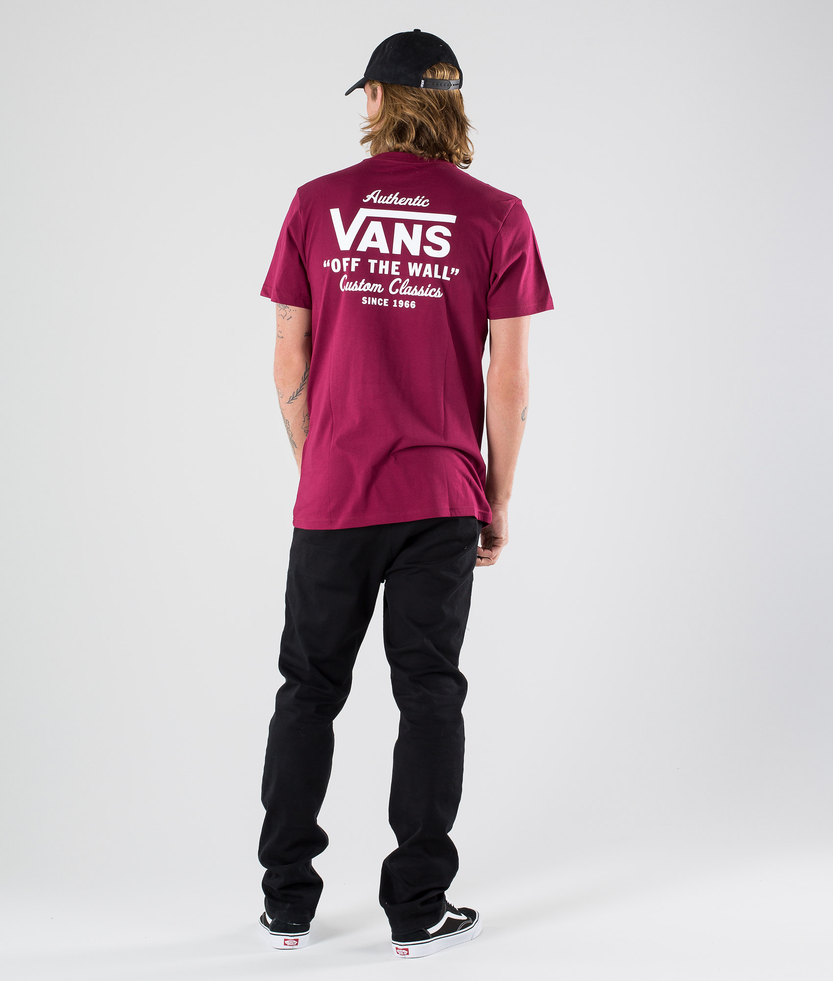 Vans Holder Street II T-shirt Rhumba Red White - Ridestore.com 161d452412