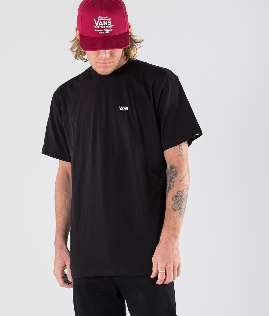 Vans Left Chest Logo Tee T-shirt Black/White
