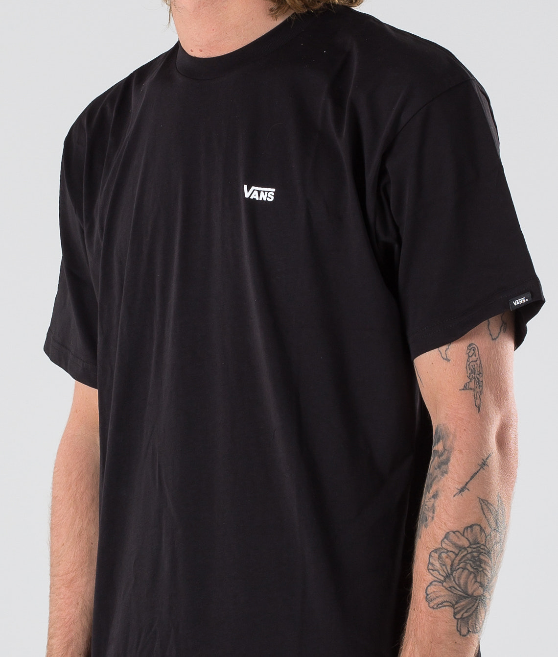 6ed1c5c8a695b1 Vans Left Chest Logo T-shirt Black/White - Ridestore.com