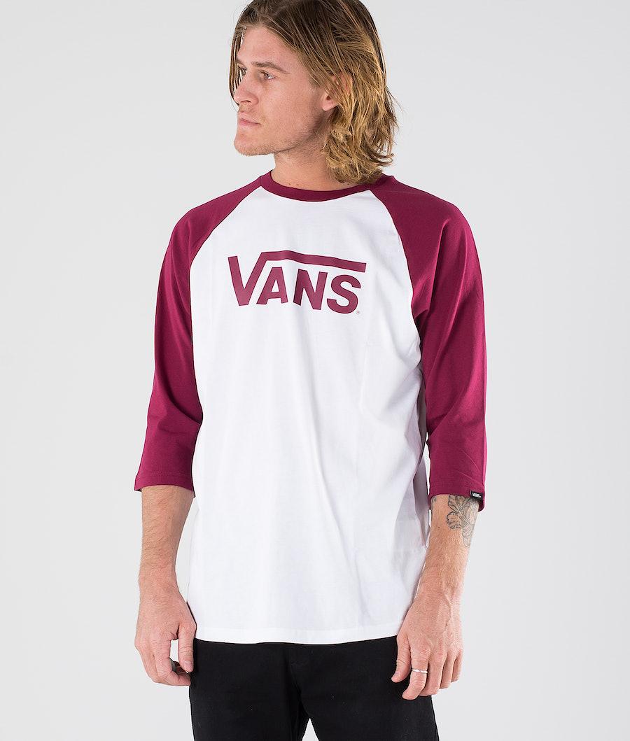 Vans Vans Classic Raglan Longsleeve White/Rhumba Red