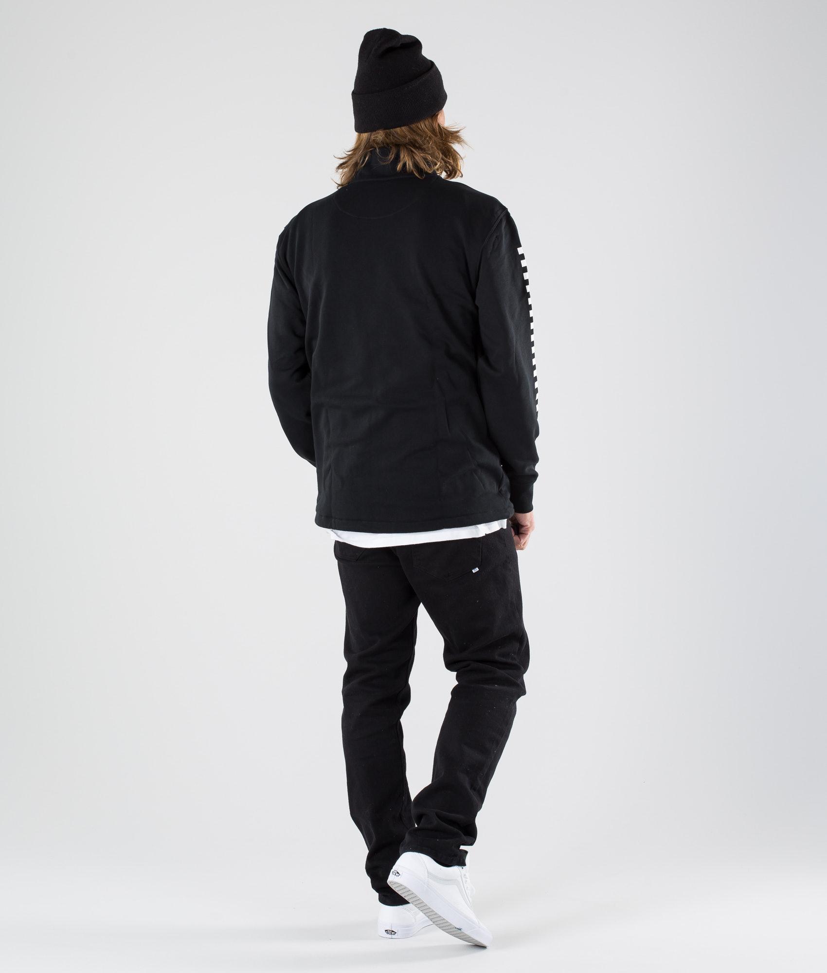 7d438b157ee1f9 Vans Versa Qzp Sweater Black Checkerboard - Ridestore.com