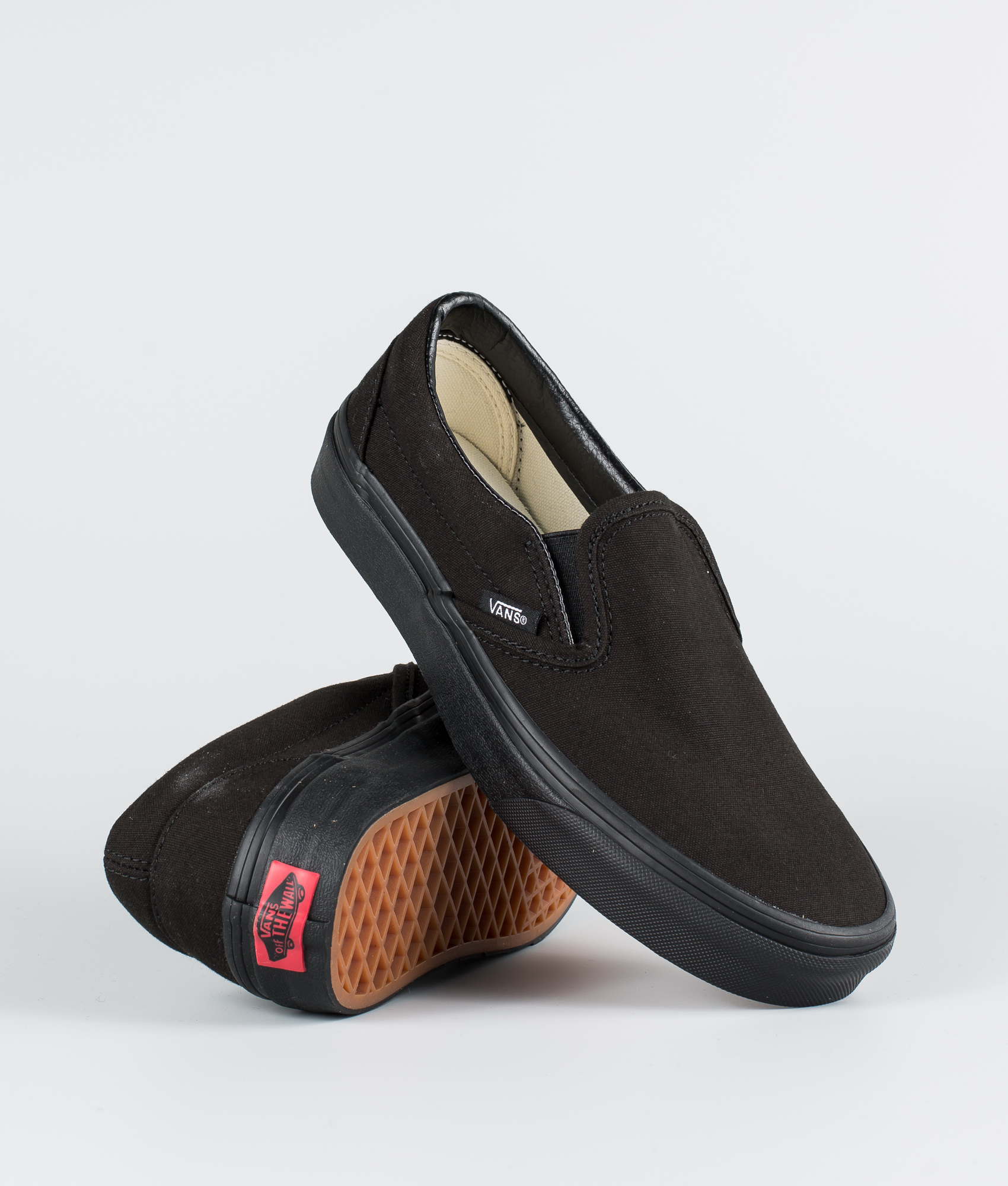 071a6a814b1f Vans Classic Slip-On Shoes Black/Black - Ridestore.com