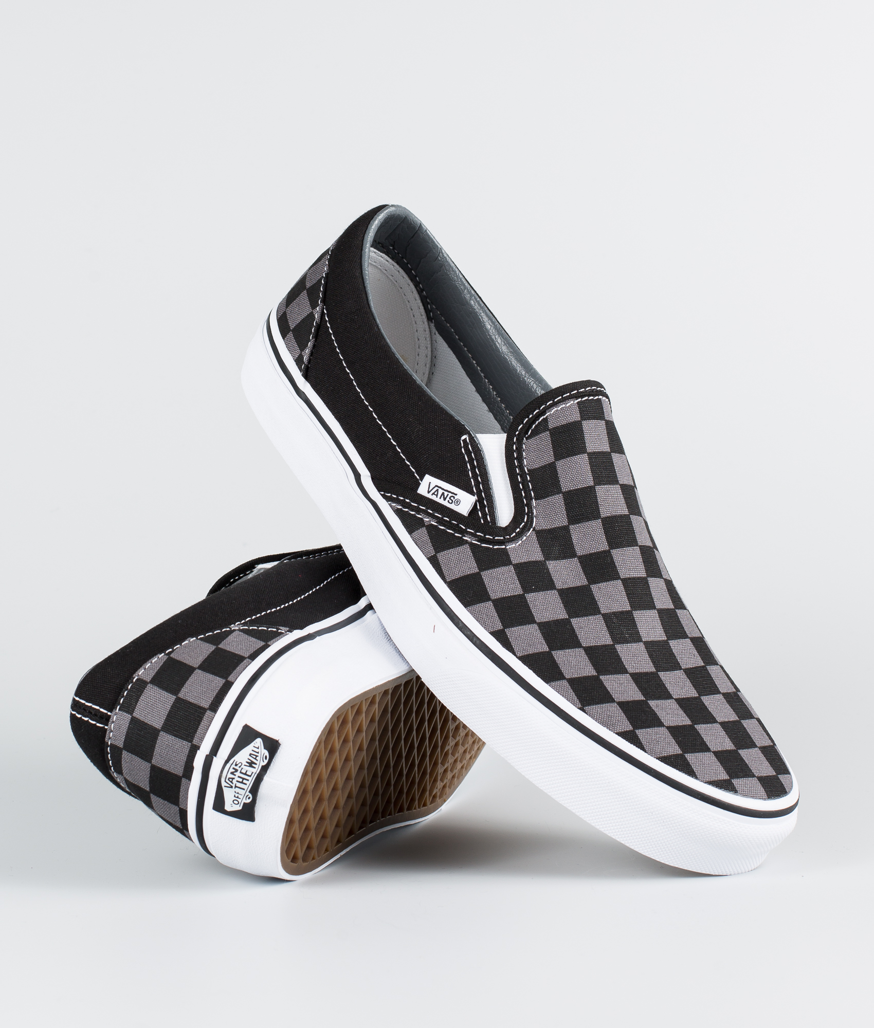 ee15249be40 Vans Classic Slip-On Shoes Black Pewter Checkerboard - Ridestore.com