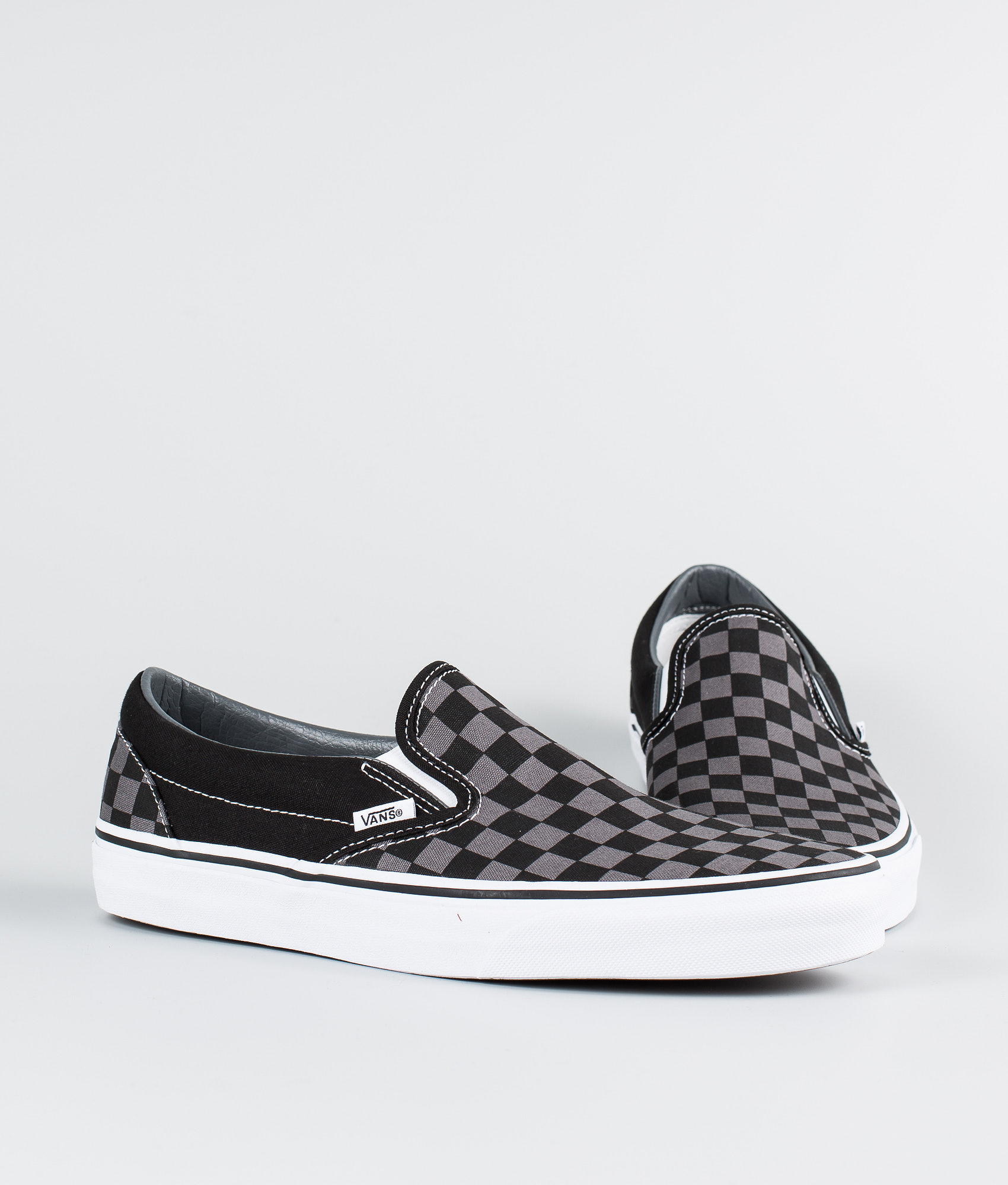 Vans Classic Slip-On Shoes Black Pewter Checkerboard - Ridestore.com c6c00c8c2