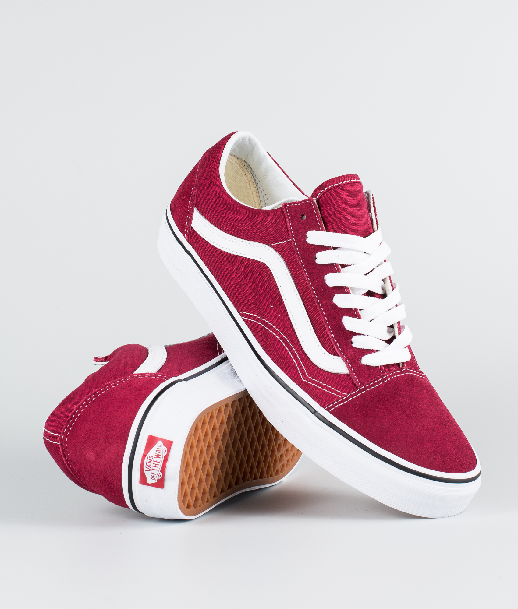 vans old skool nere rosse