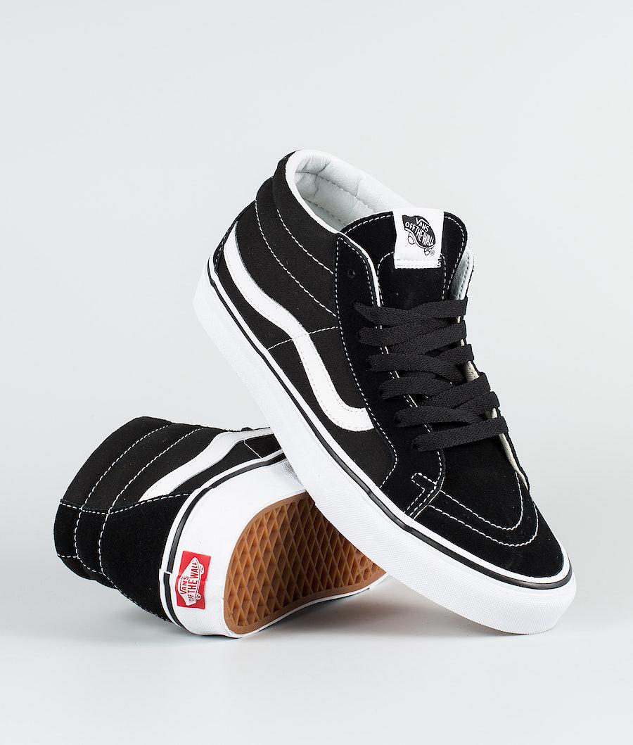 Vans Sk8-Mid Reissue Shoes Black/True White