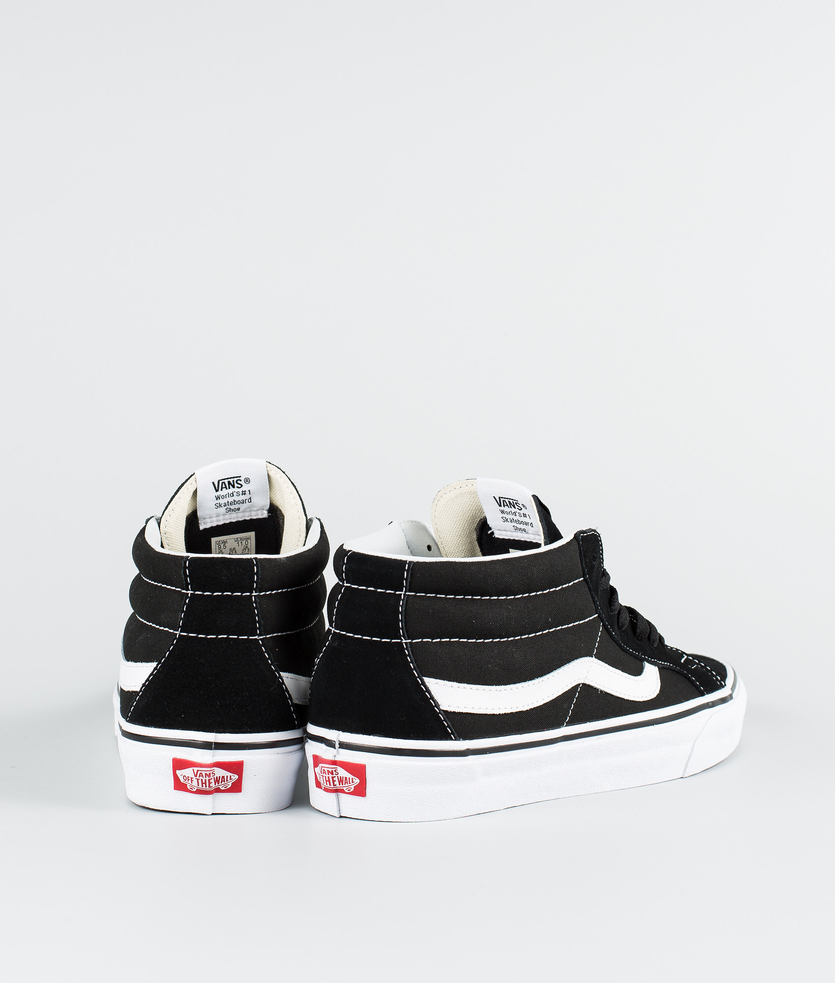 23b615909f Vans Sk8-Mid Reissue Shoes Black True White - Ridestore.com