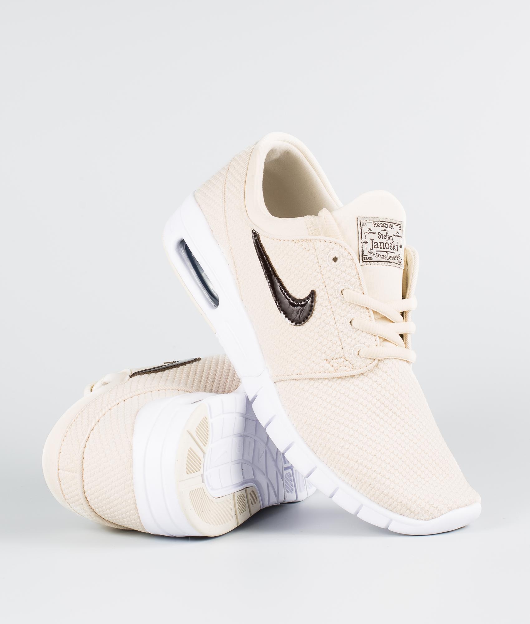 Compadecerse Congelar análisis  Nike Stefan Janoski Max Shoes Light Cream/Velvet Brown-White - Ridestore.com