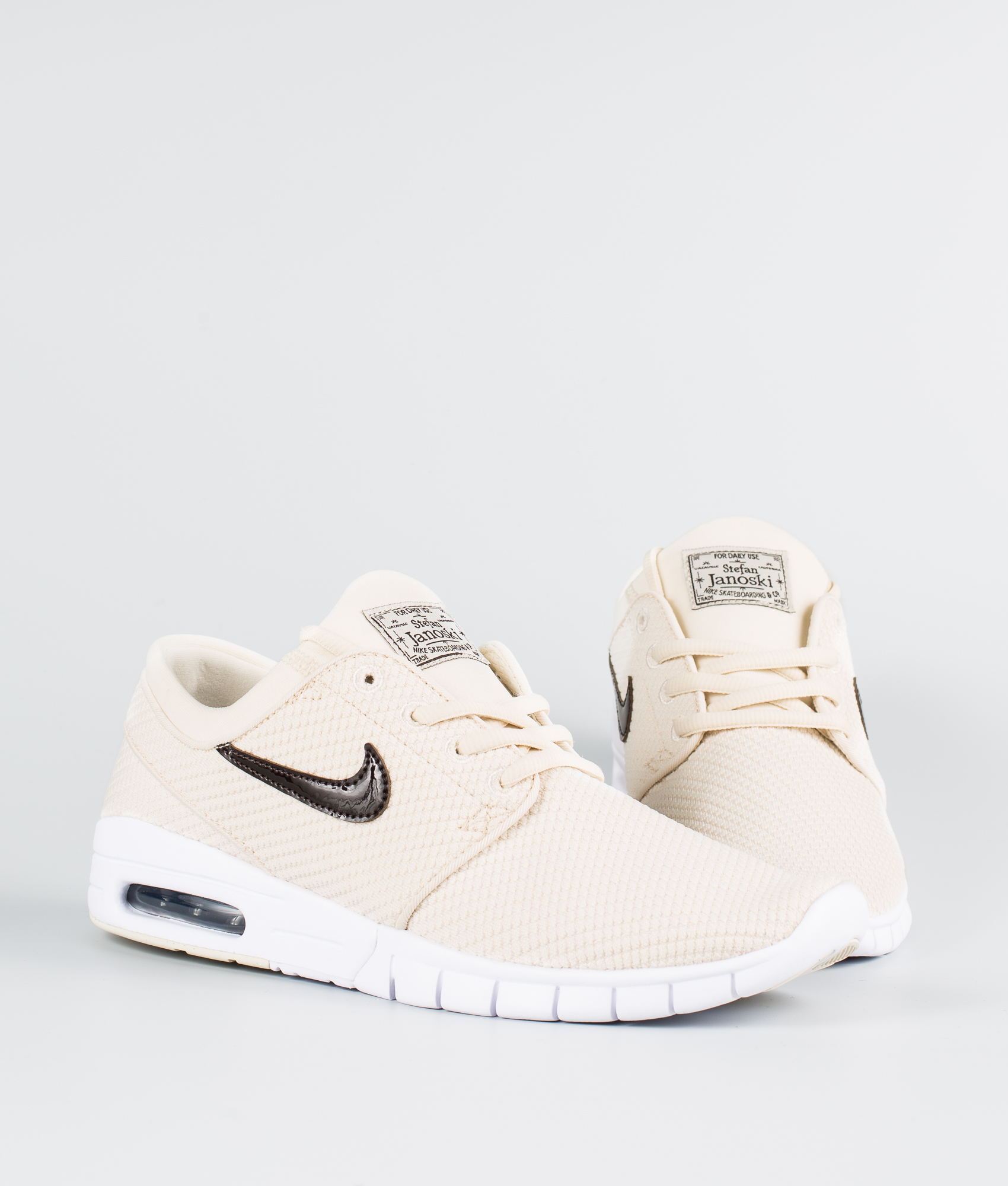 Nike Stefan Janoski Max Chaussures Light CreamVelvet Brown White