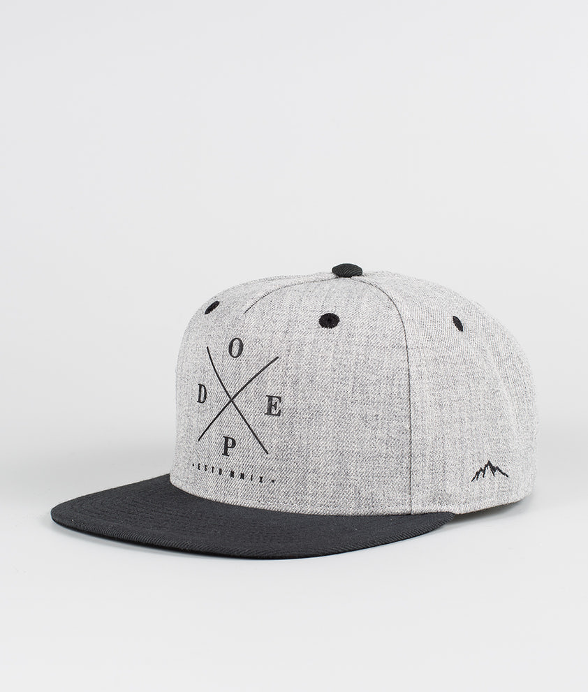 Dope 2X-Up Caps Heather Grey Black