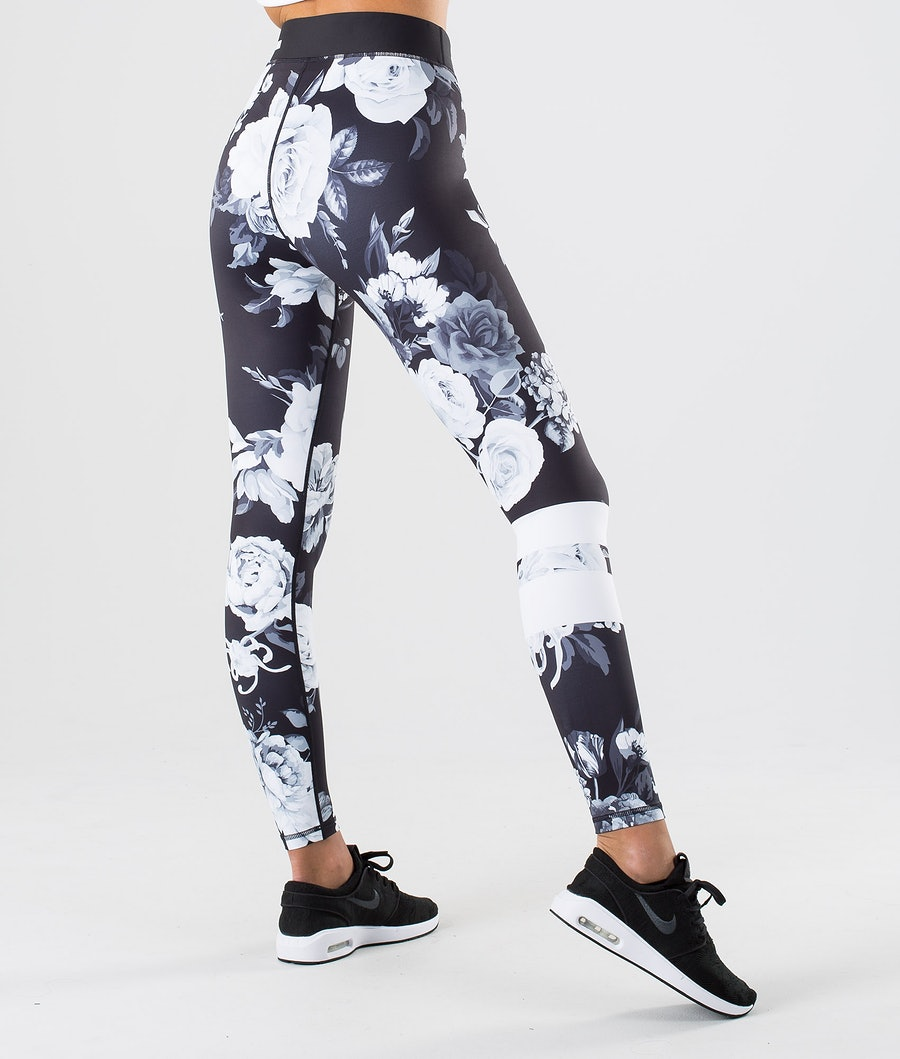 Dope Razor Leggings Dame Black Flower